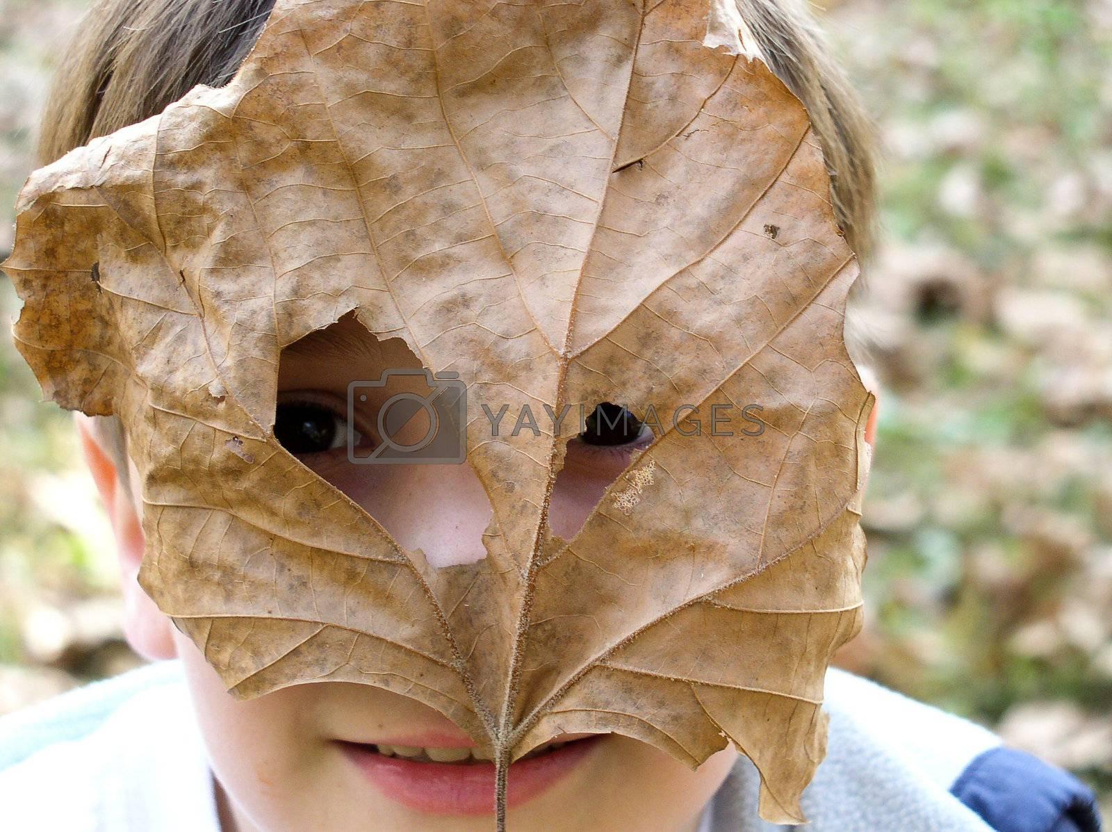 Boy's Leaf Mask