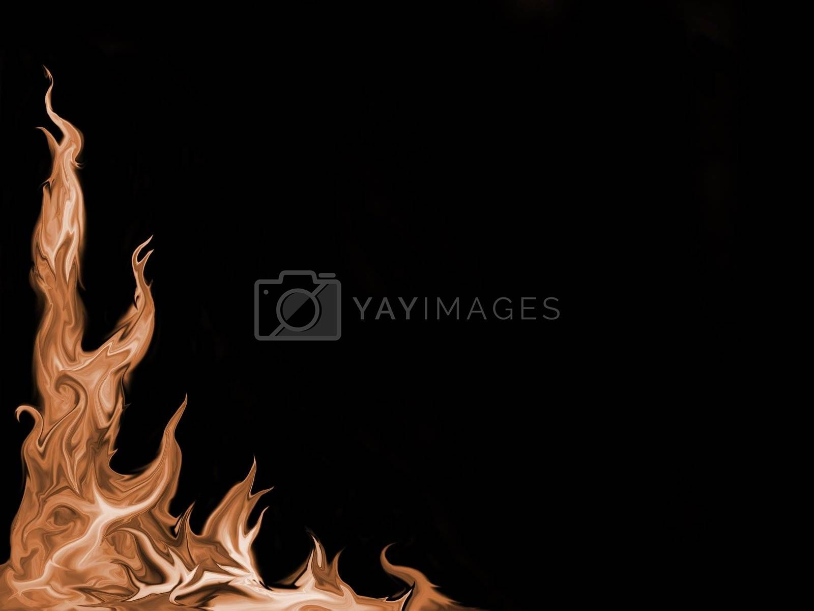 Fire-flamed background by nature_art