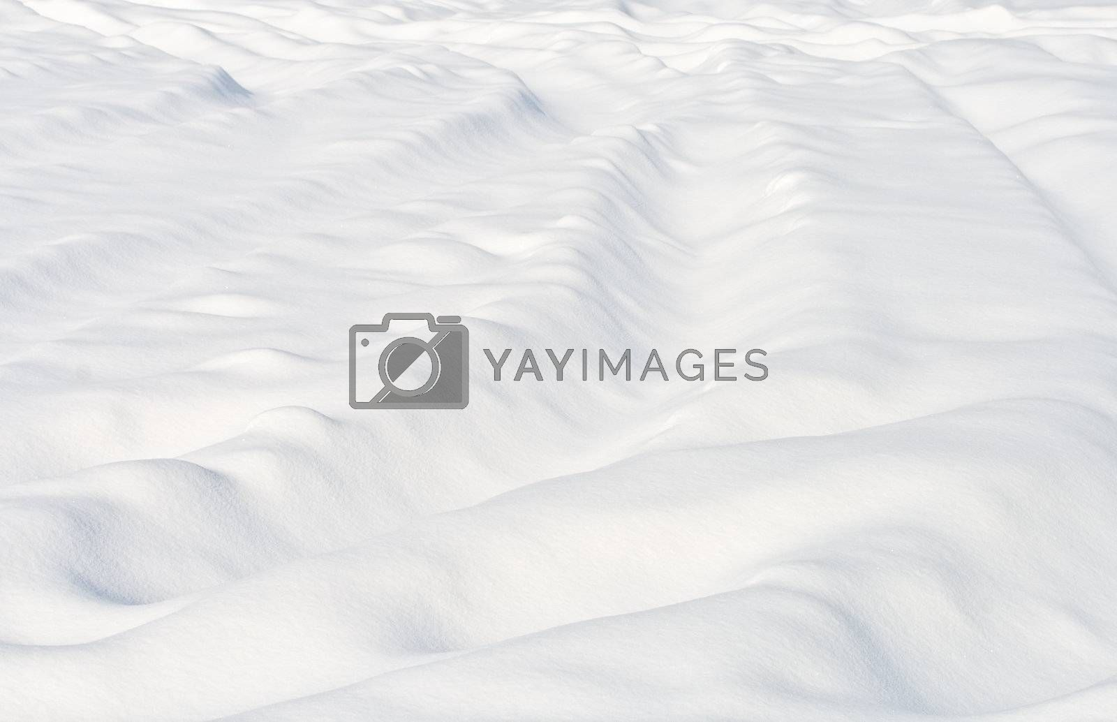 an uneven white snow by Alekcey