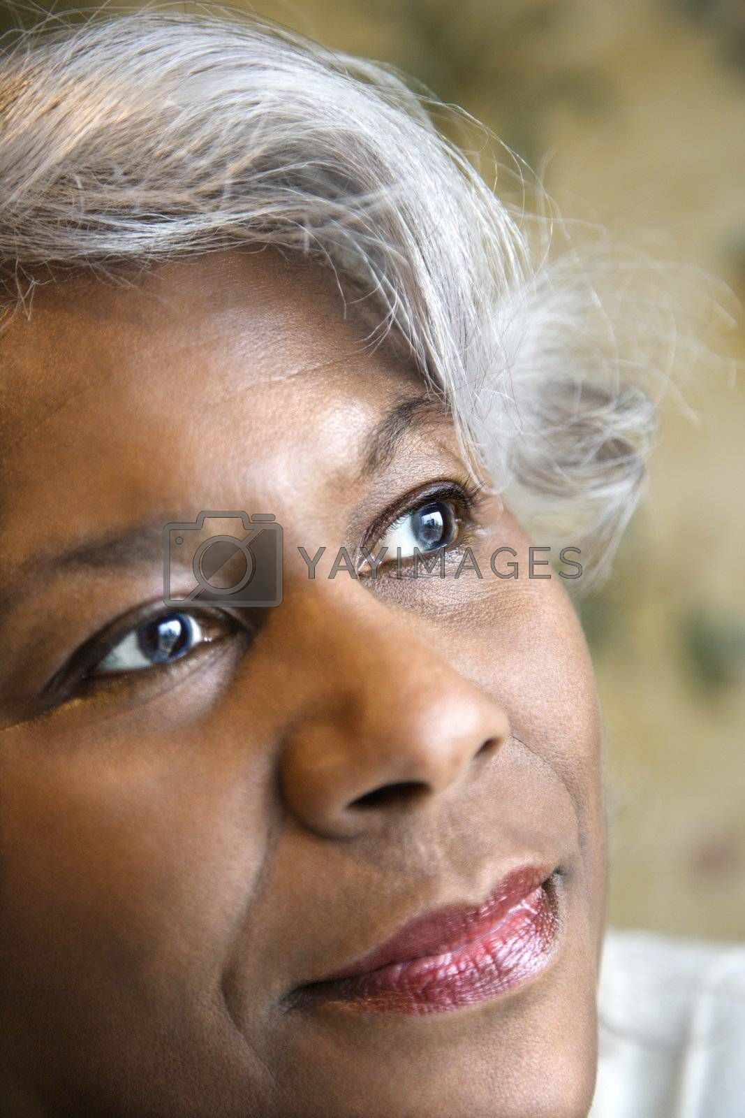 Portrait of mature African American woman.
