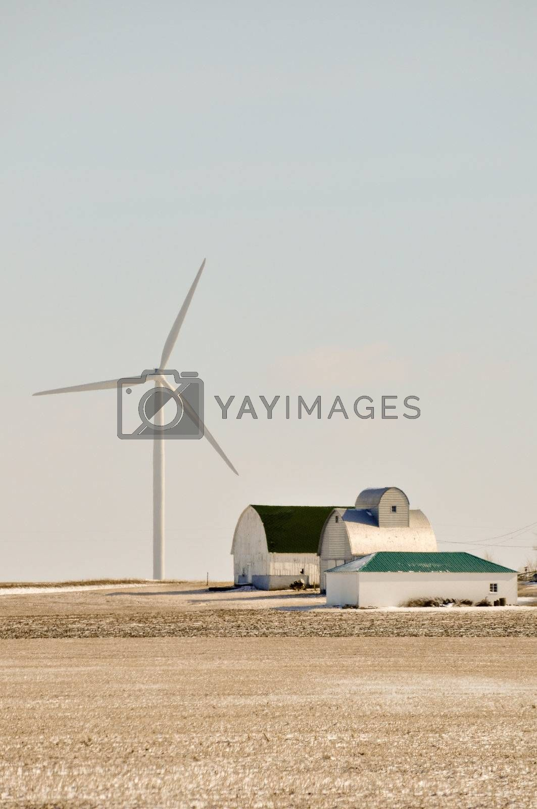 Indiana Wind Turbine Turns Over the Family farm by RefocusPhoto