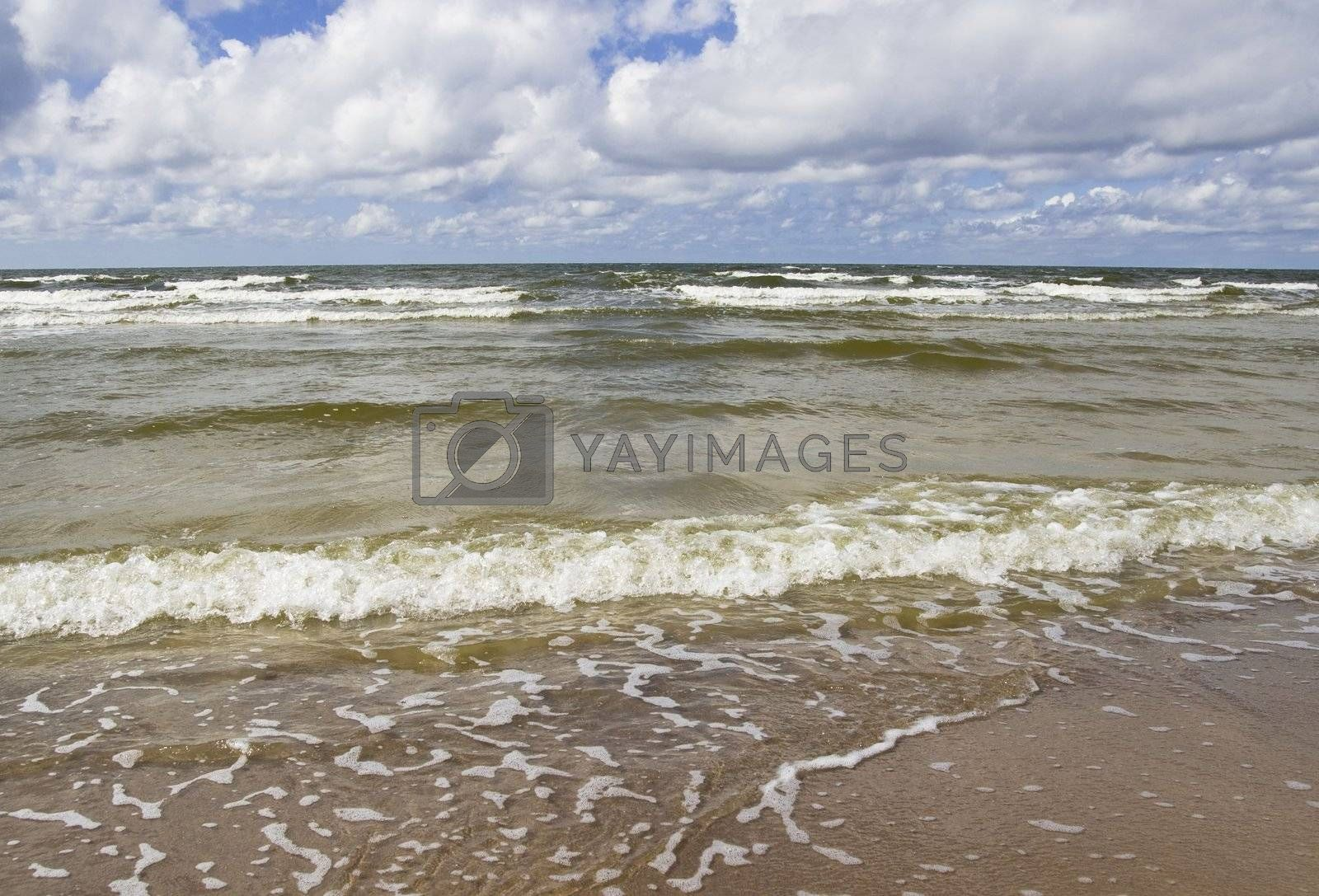 Baltic sea foam with place for text oradvertisement.