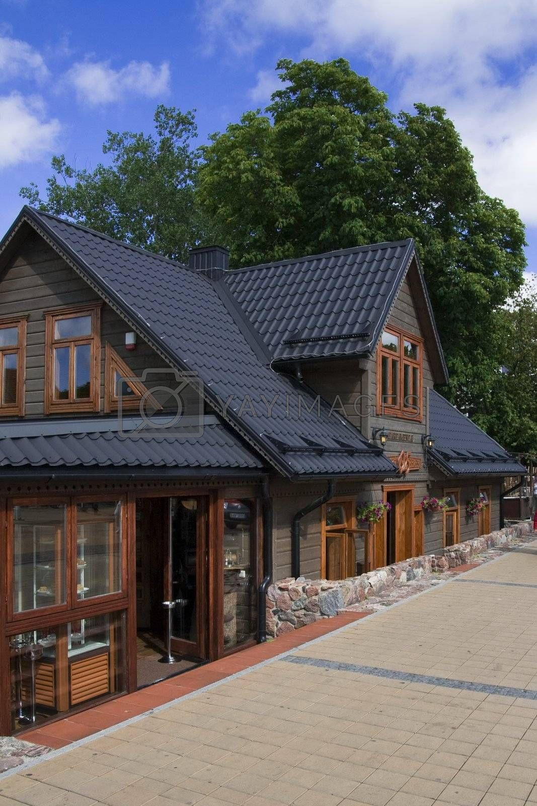 Wooden house in Palanga, Lithuania