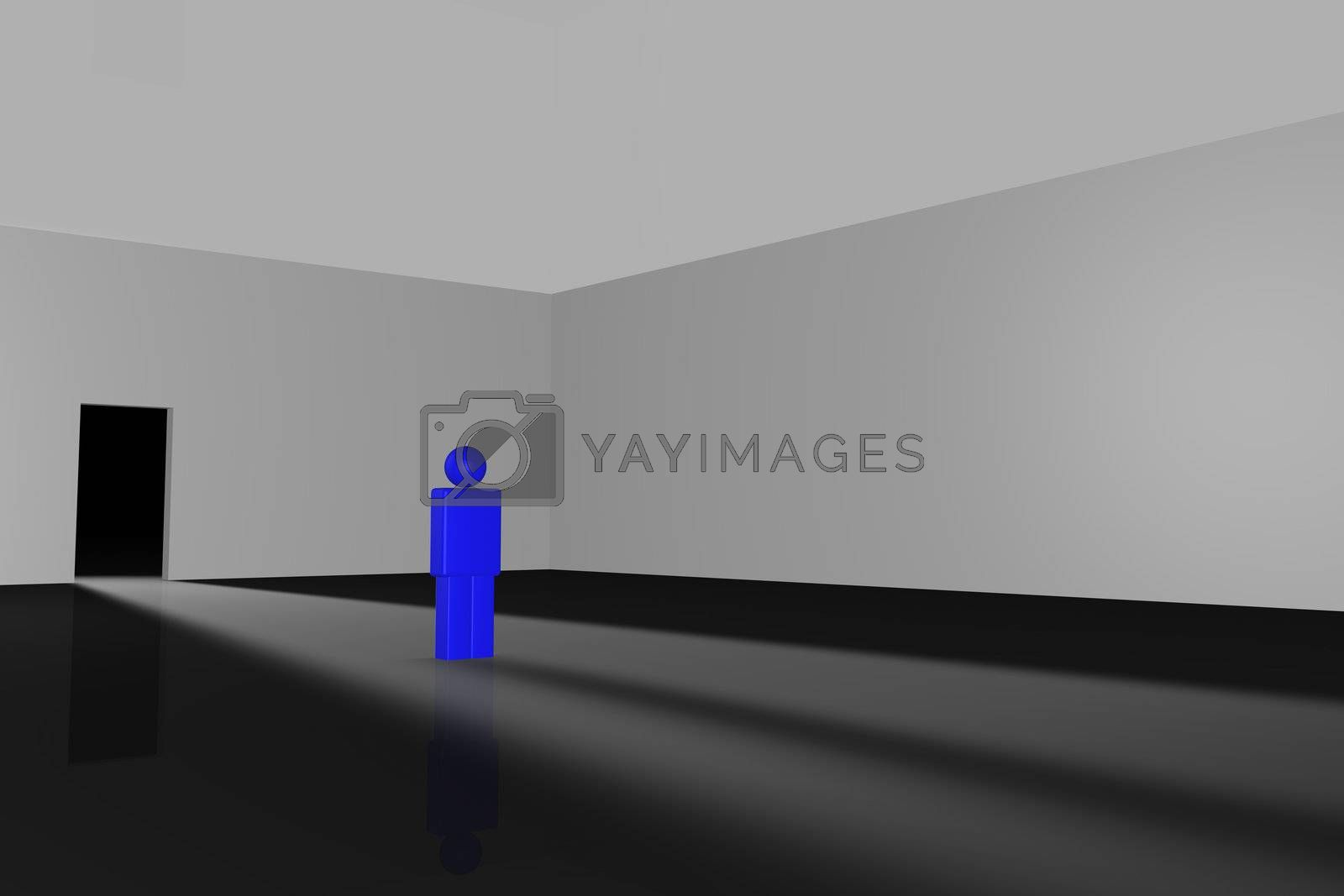 3D Illustration of business concept: Door of opportunity.