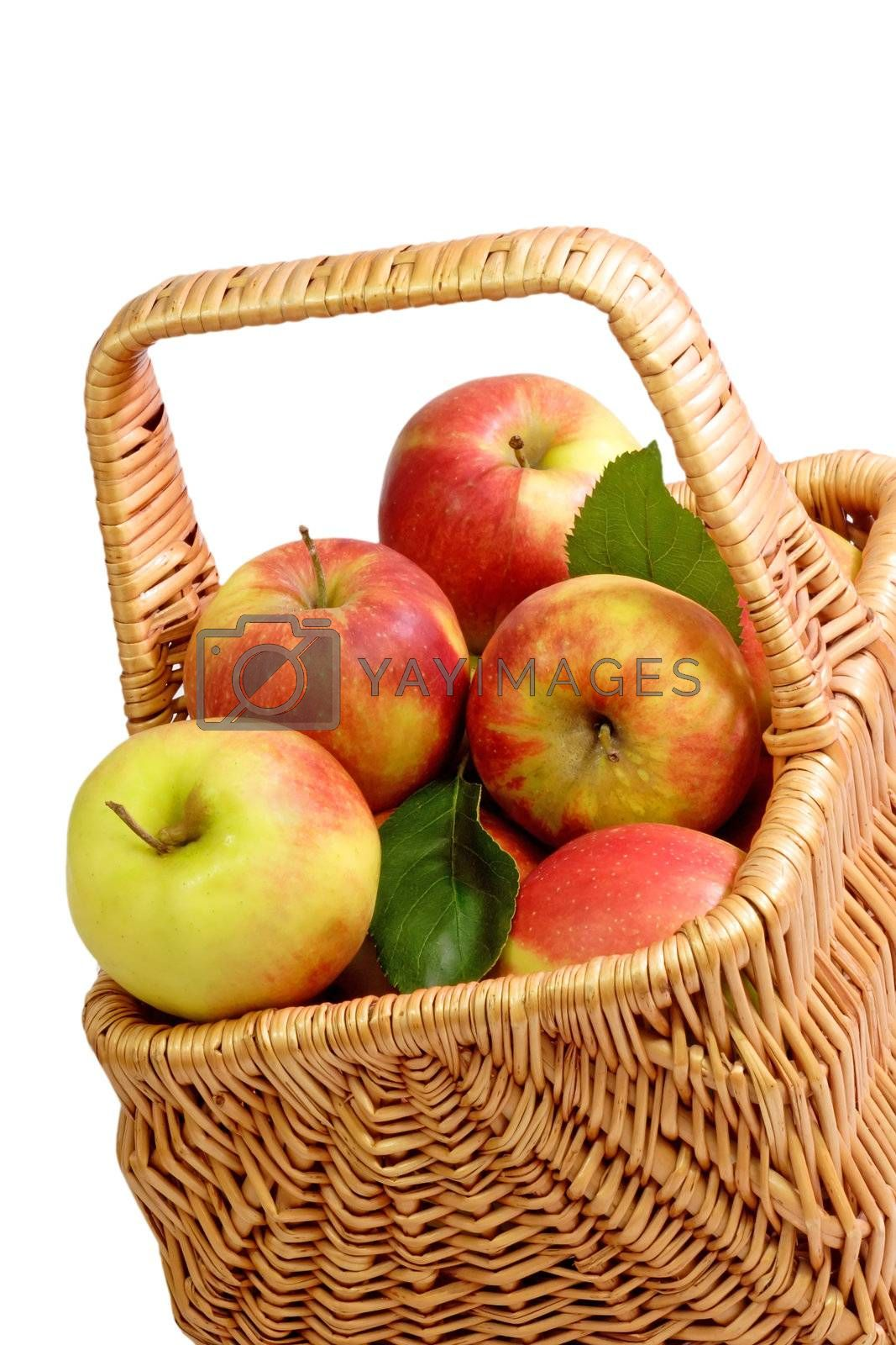 Basket with fresh apples by Teamarbeit