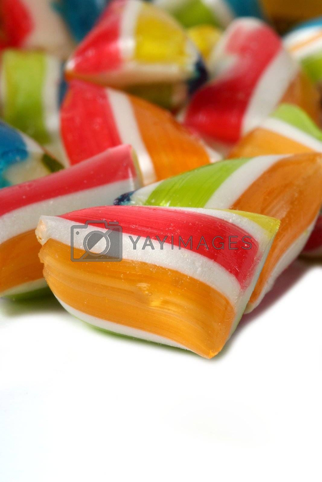 Close-up of sweet handmade candy of various colors