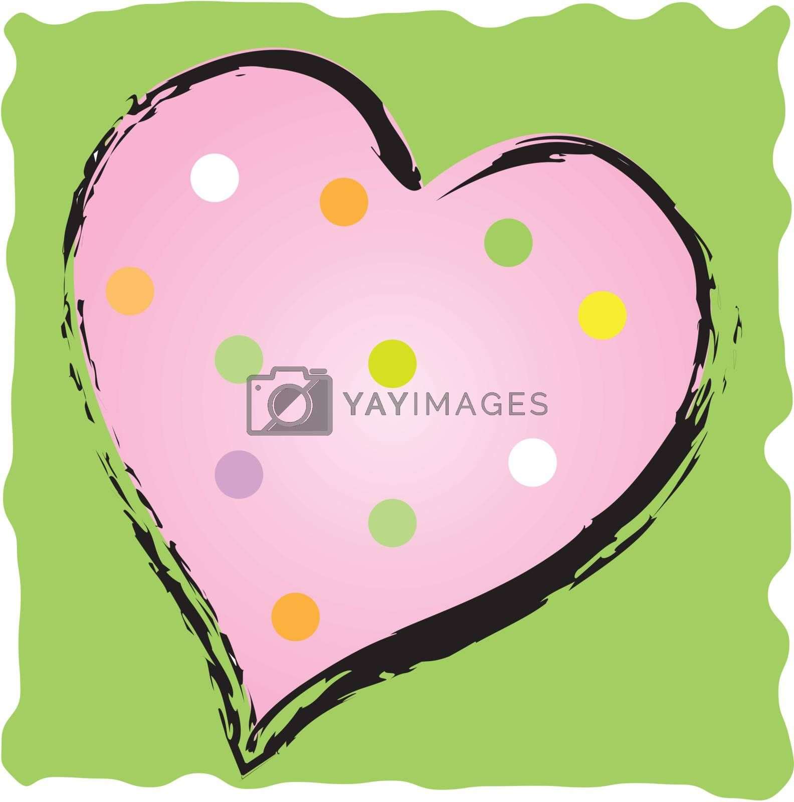 Polkadot Heart by ewilliamsdesign