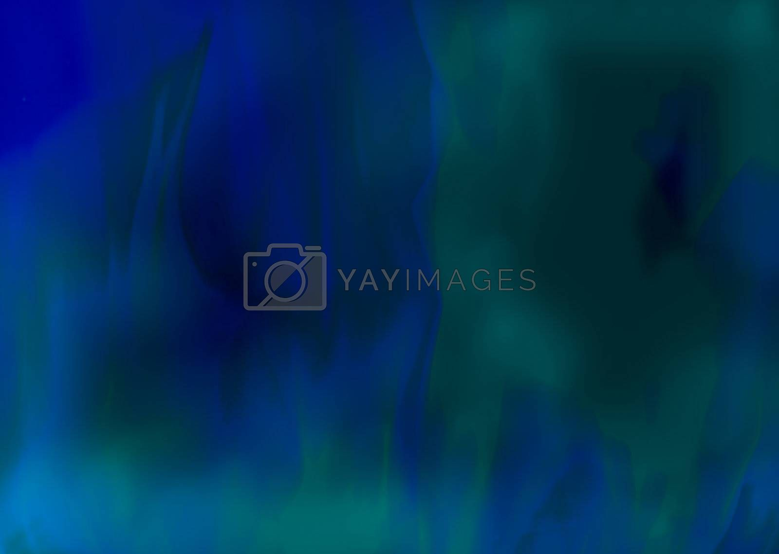 Smokey Blue Green Flames of Fire textured Background Design
