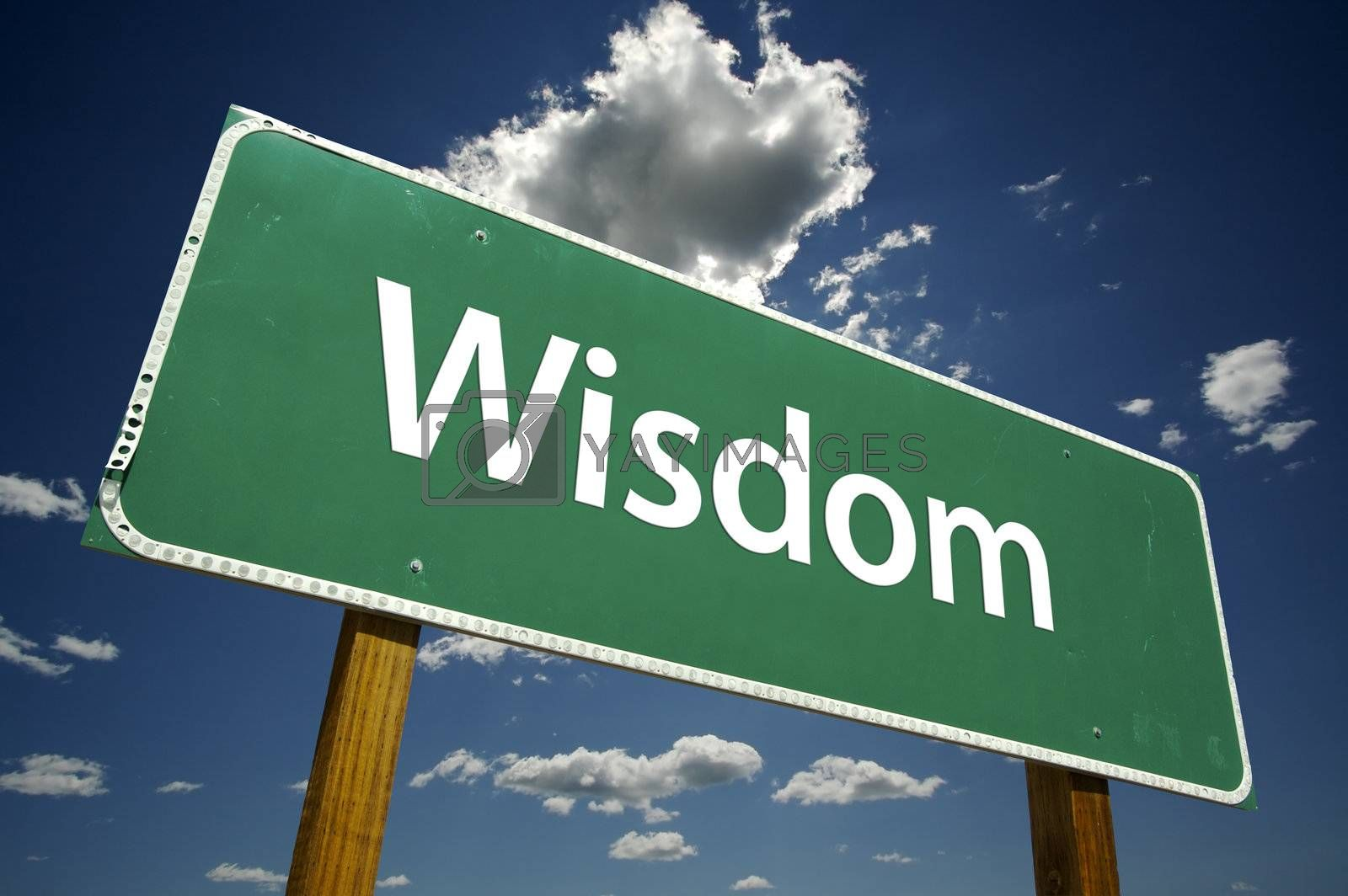 Wisdom Road Sign by Andy Dean Photography
