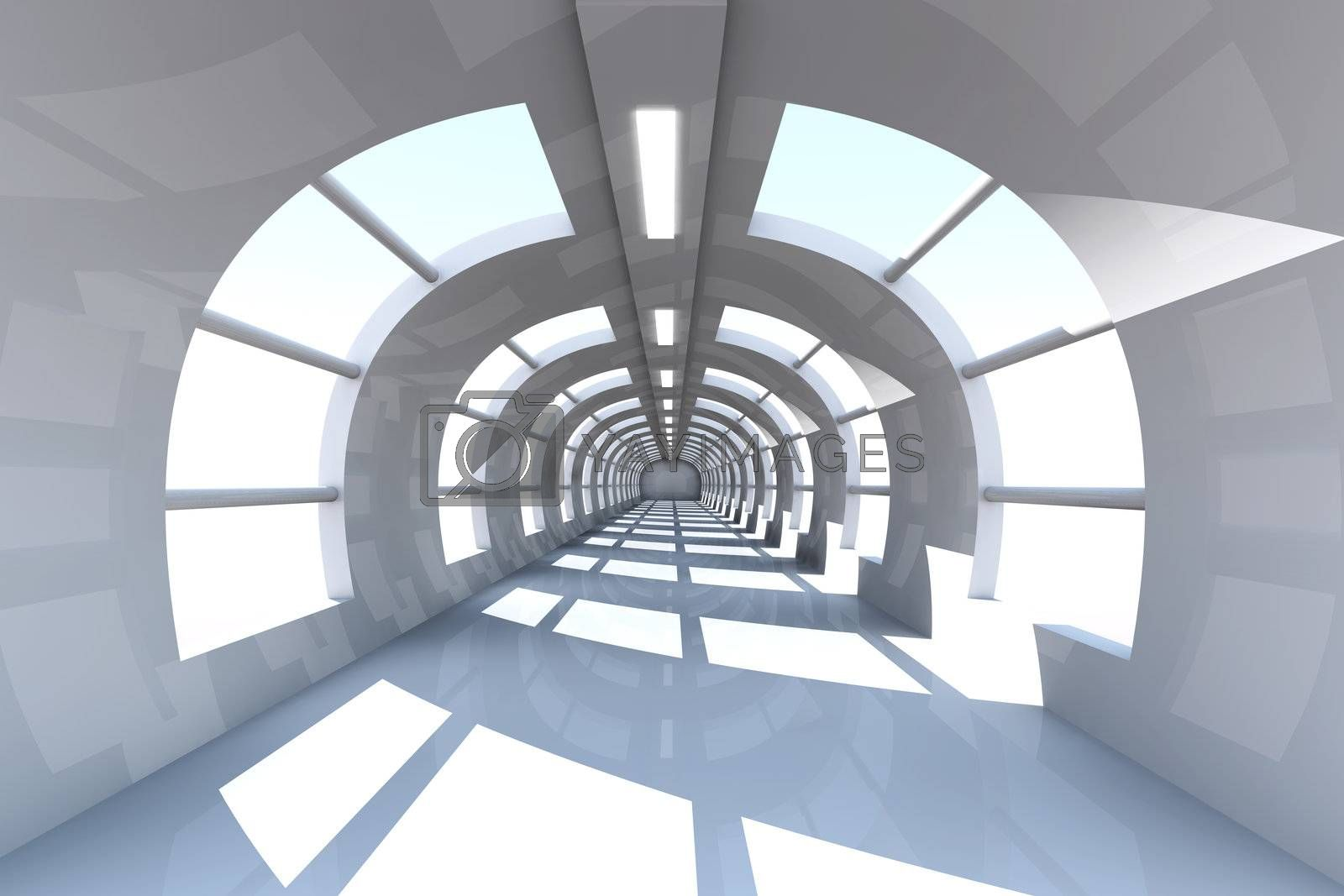 3D rendered Interior.
