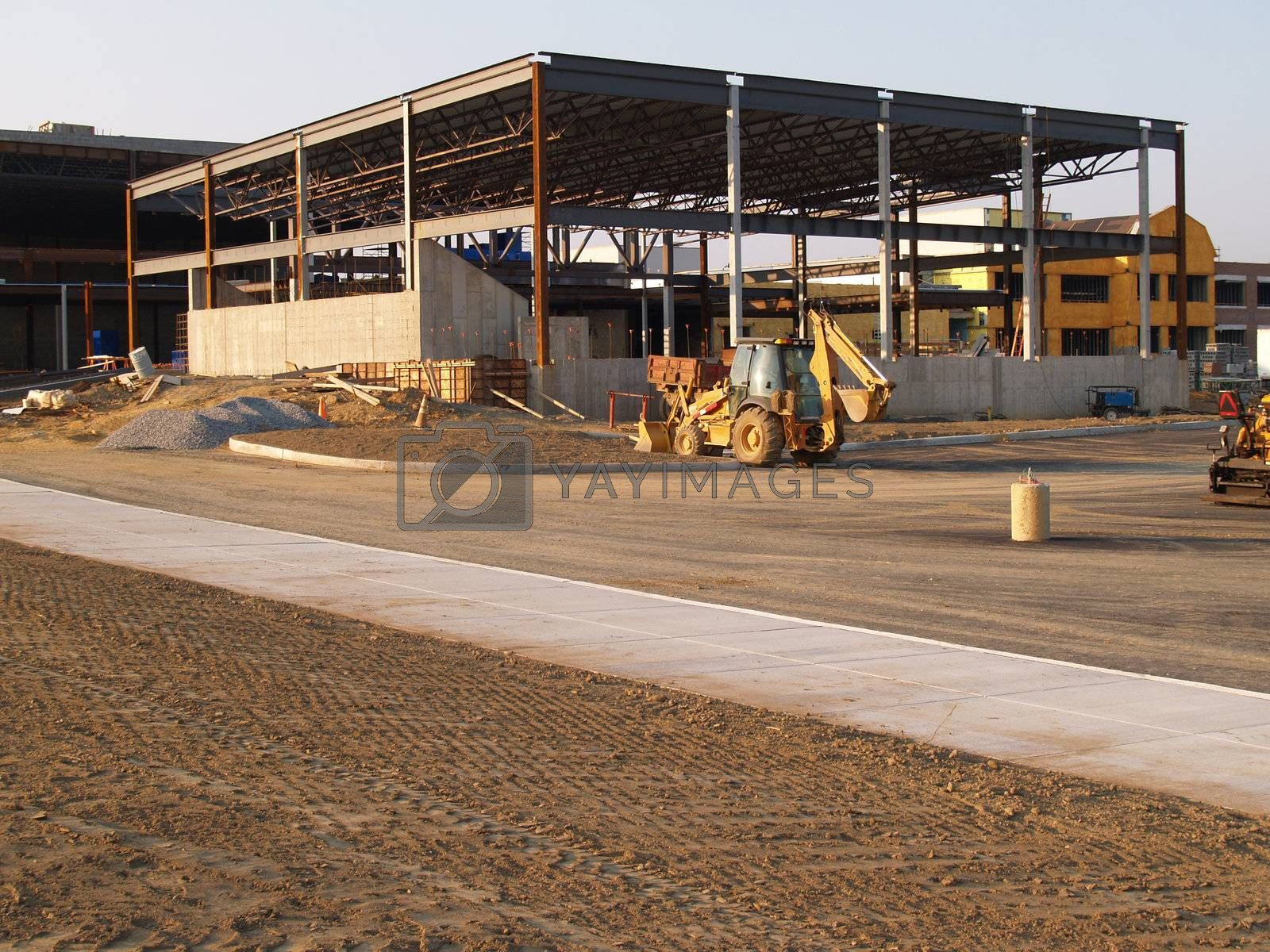 construction site for a new school
