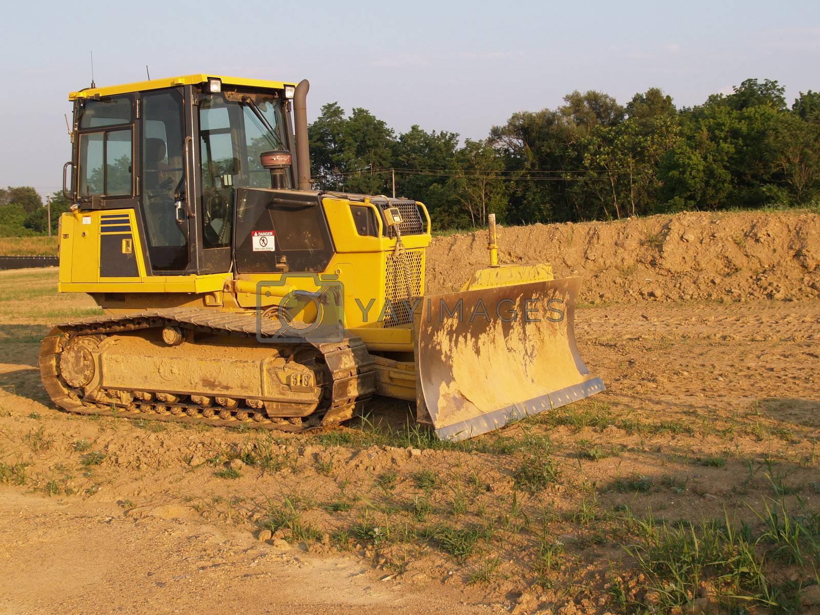 heavy duty bulldozer at a construction site