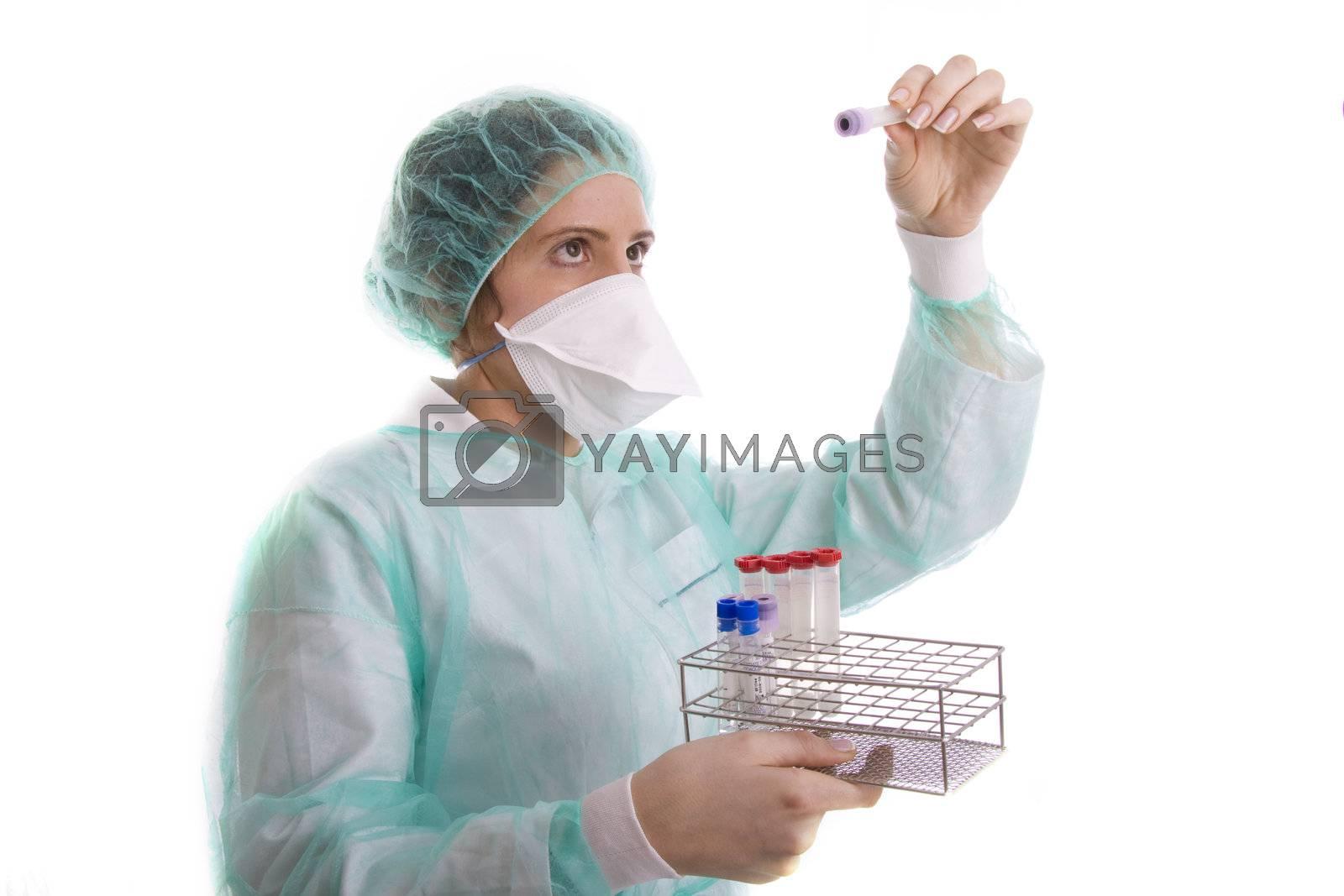 nurse on white background