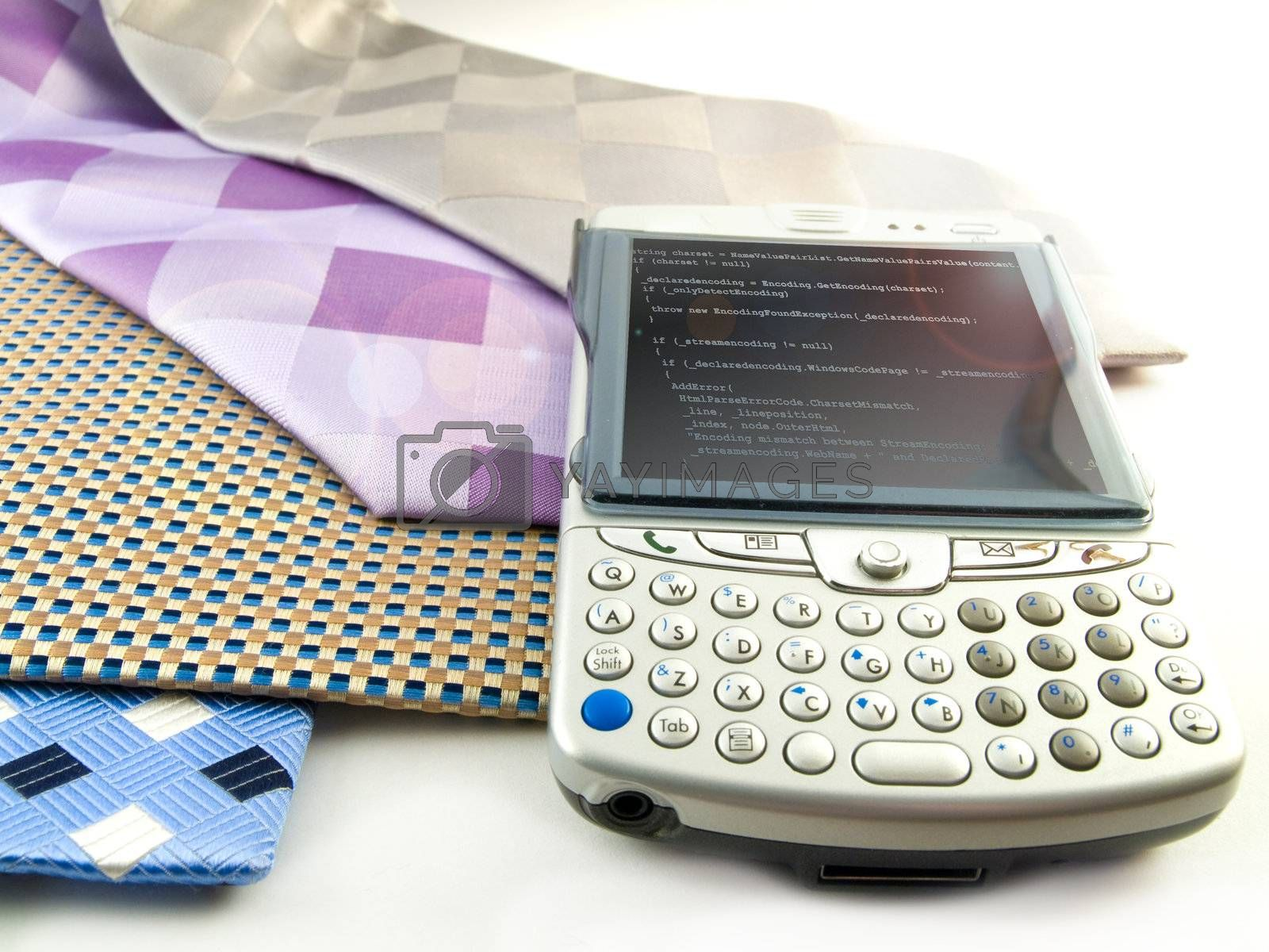 Close Up PDA and Neck Ties With Programming Code