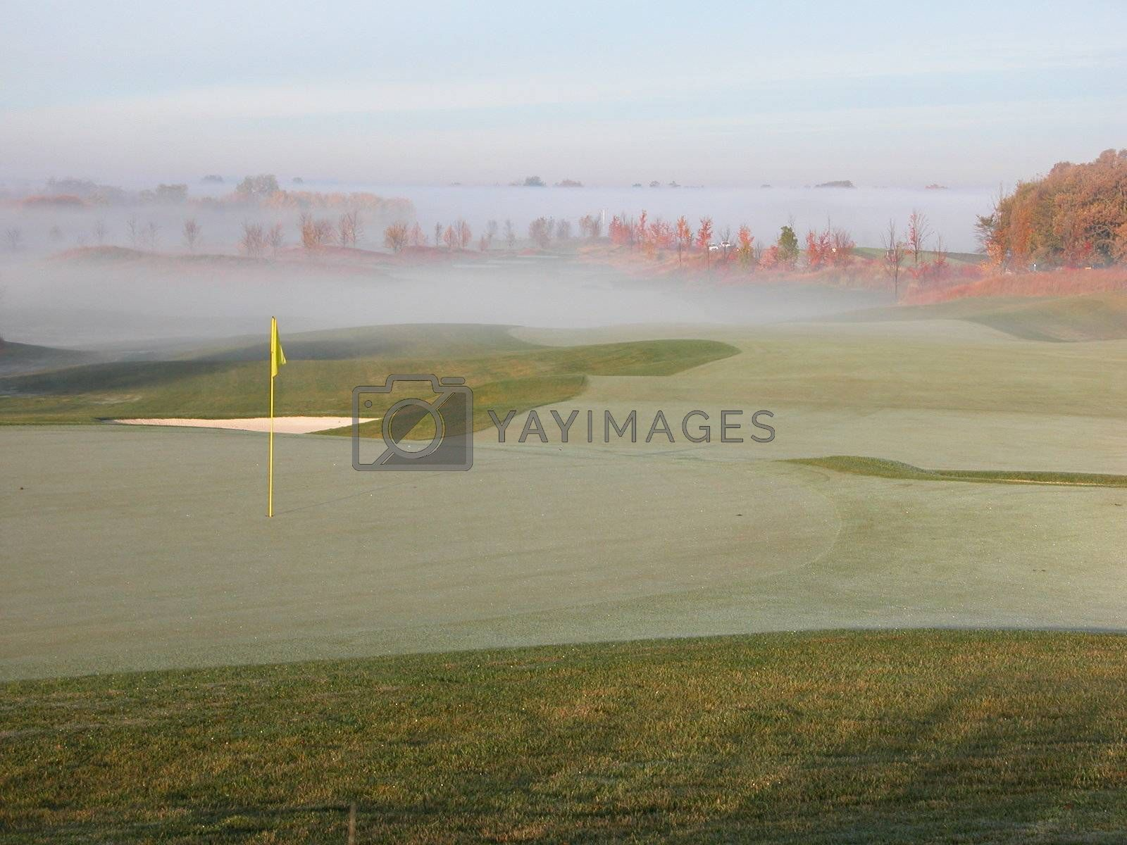 Royalty free image of Steamy Golf Course by ewilliamsdesign