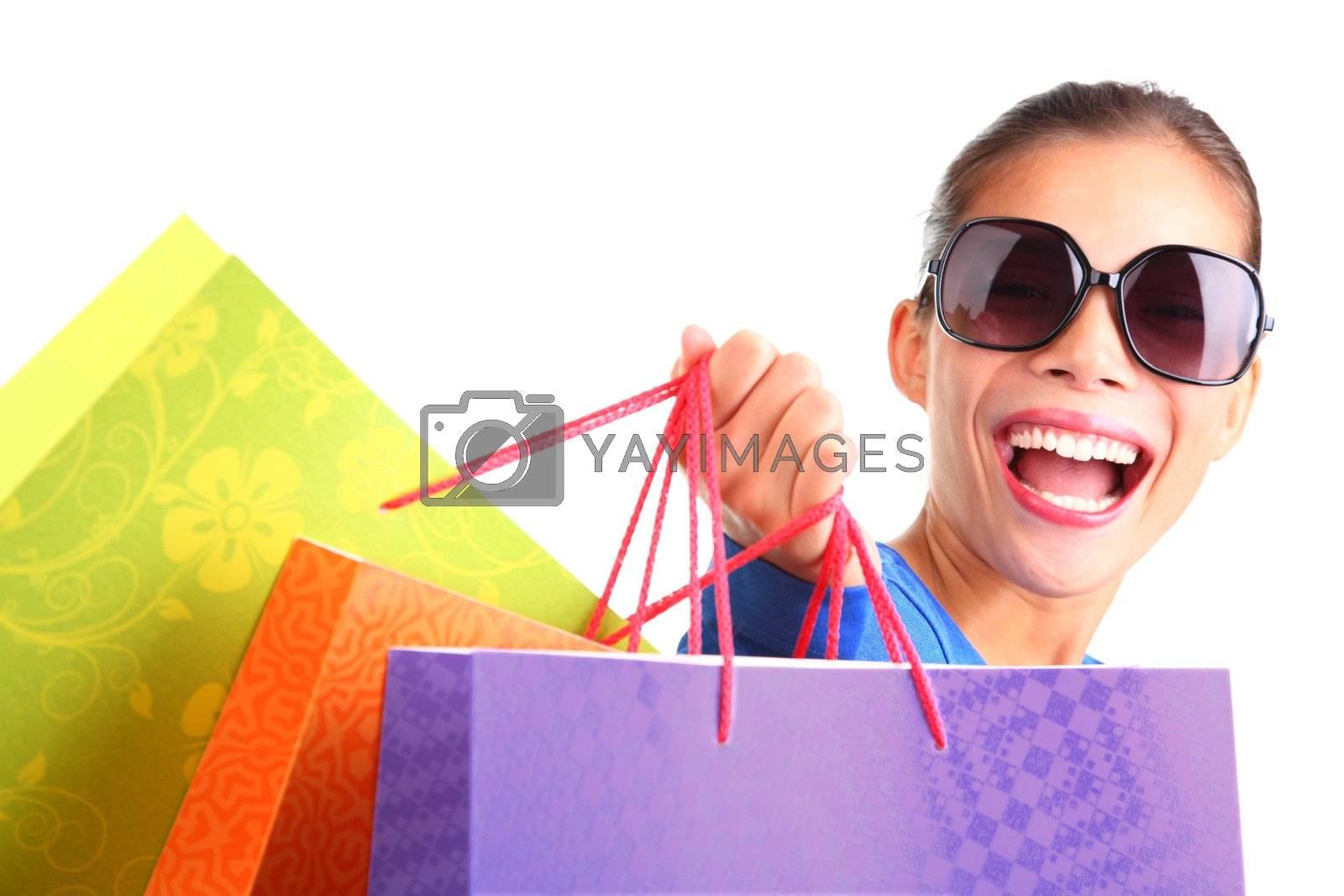 Woman shopping by Ariwasabi