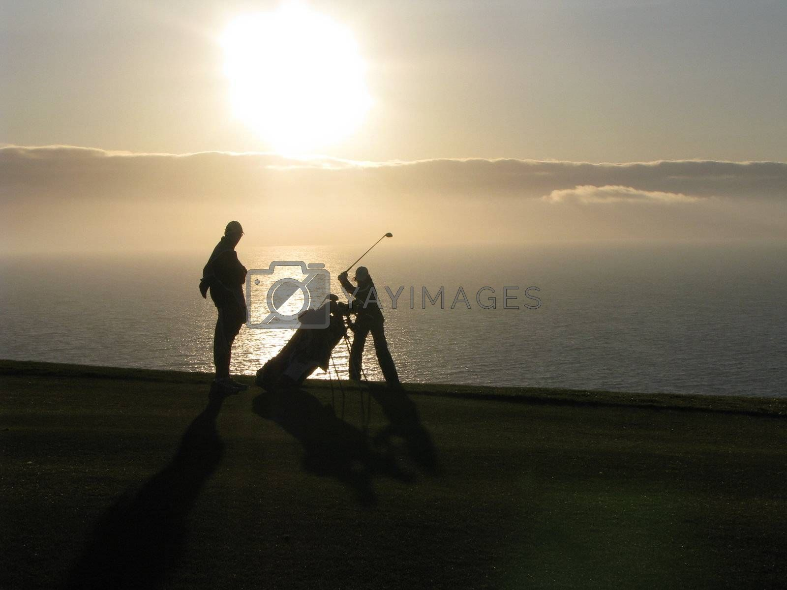 Golfer and her Caddy by ewilliamsdesign