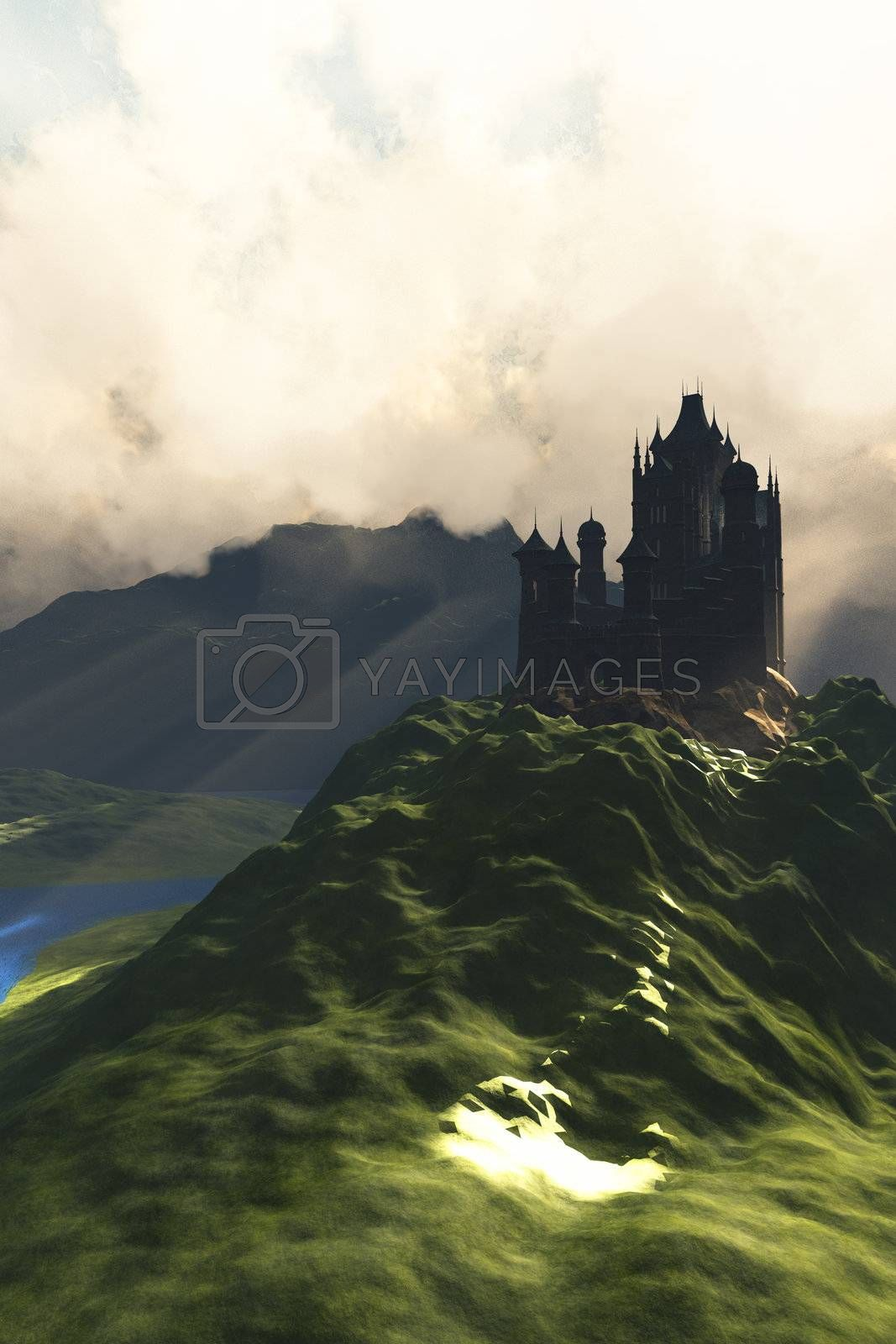Royalty free image of CASTLE IN THE MIST by Catmando