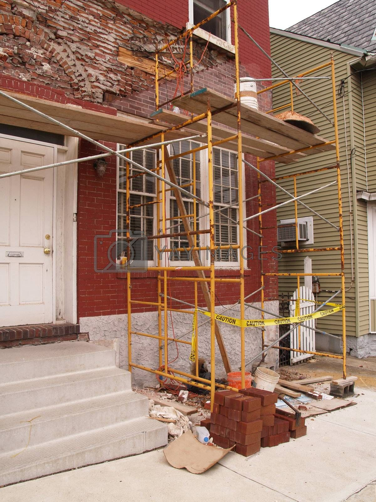 Royalty free image of house exterior remodel by cfarmer