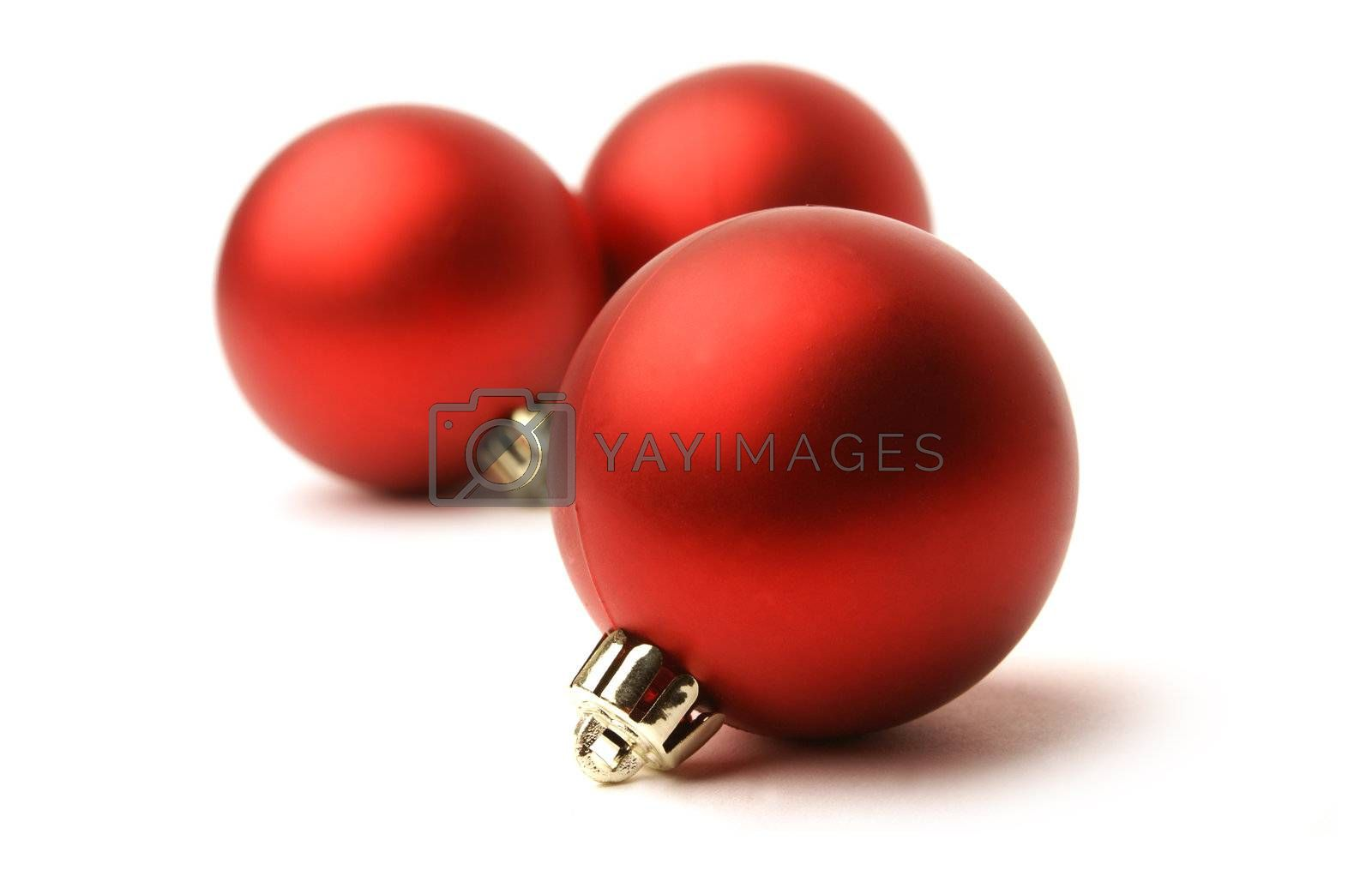 Christmas balls isolated on white by shmeljov