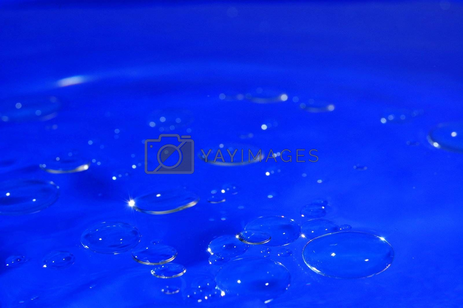 strange and abstract blue water bubble background