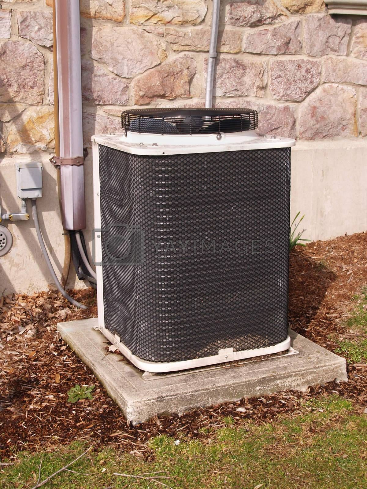 an outside air conditioning unit