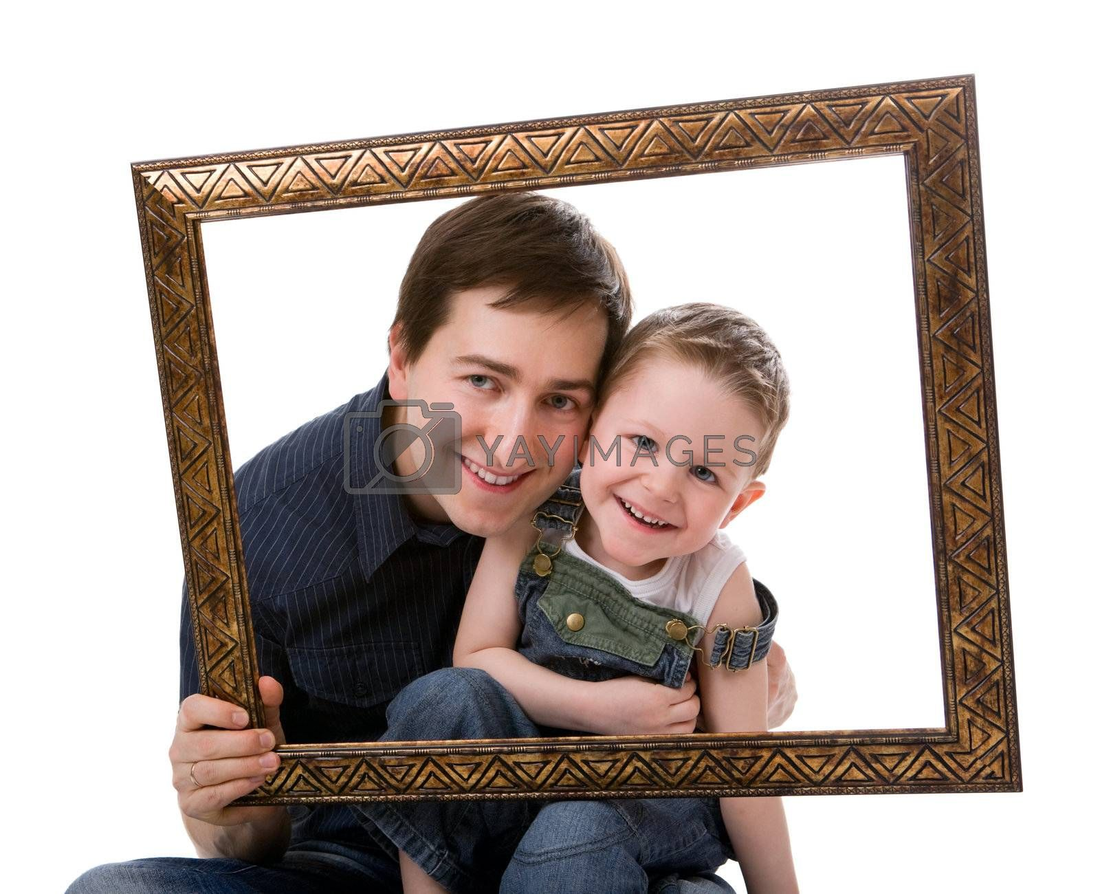 Father and son portrait by shalamov