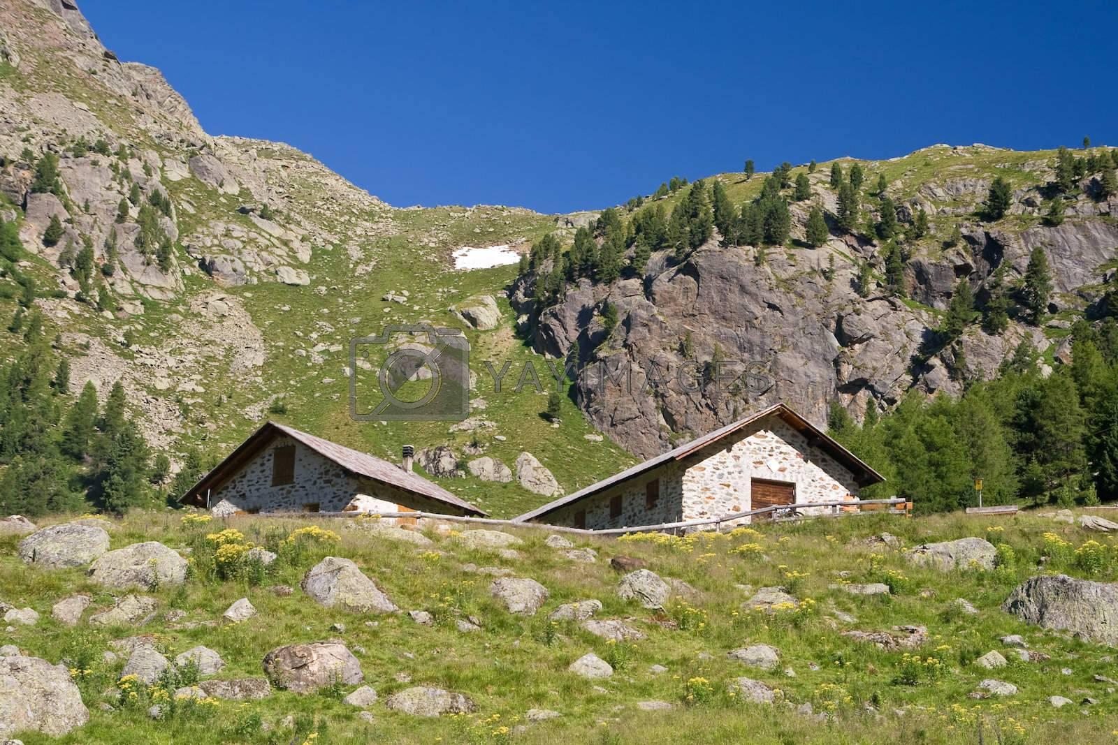 alpine stone houses by antonioscarpi