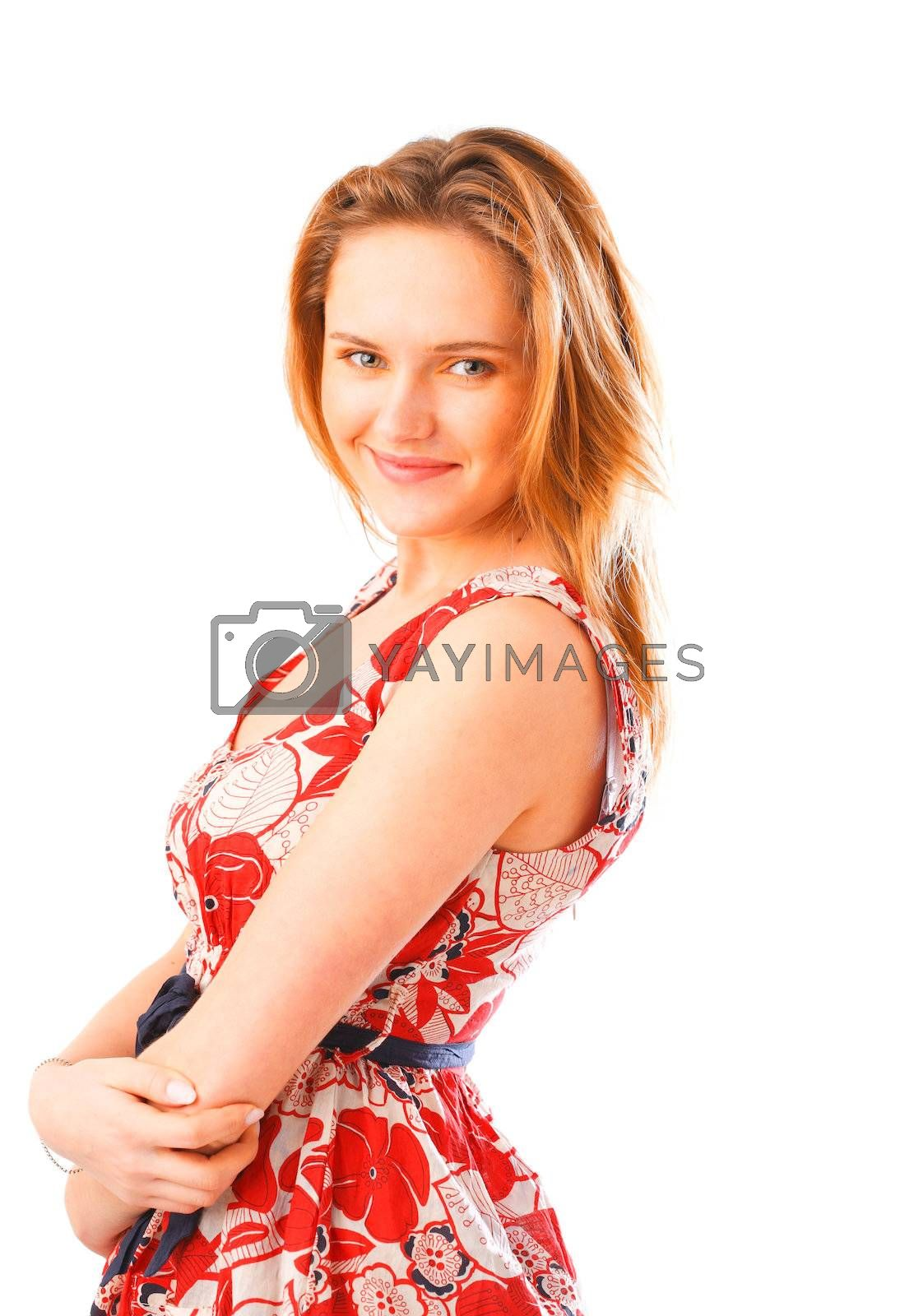 Photo of a young woman in a summer dress