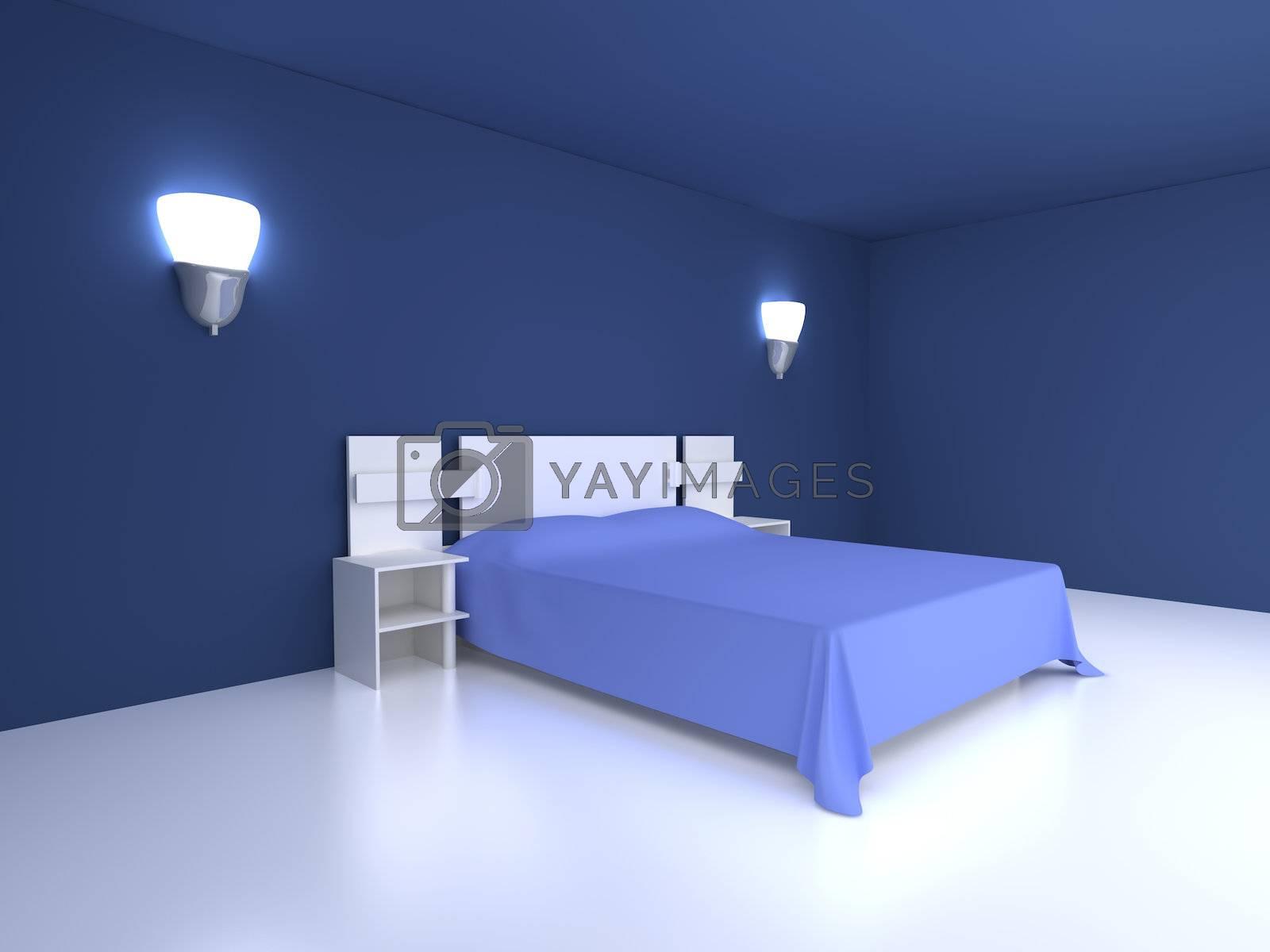 3D rendered Illustration. Interior Scene.
