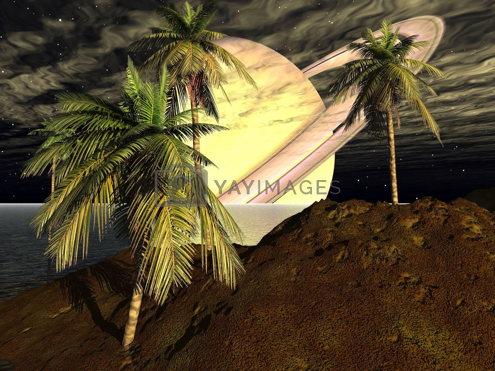 3D rendered scifi scenery