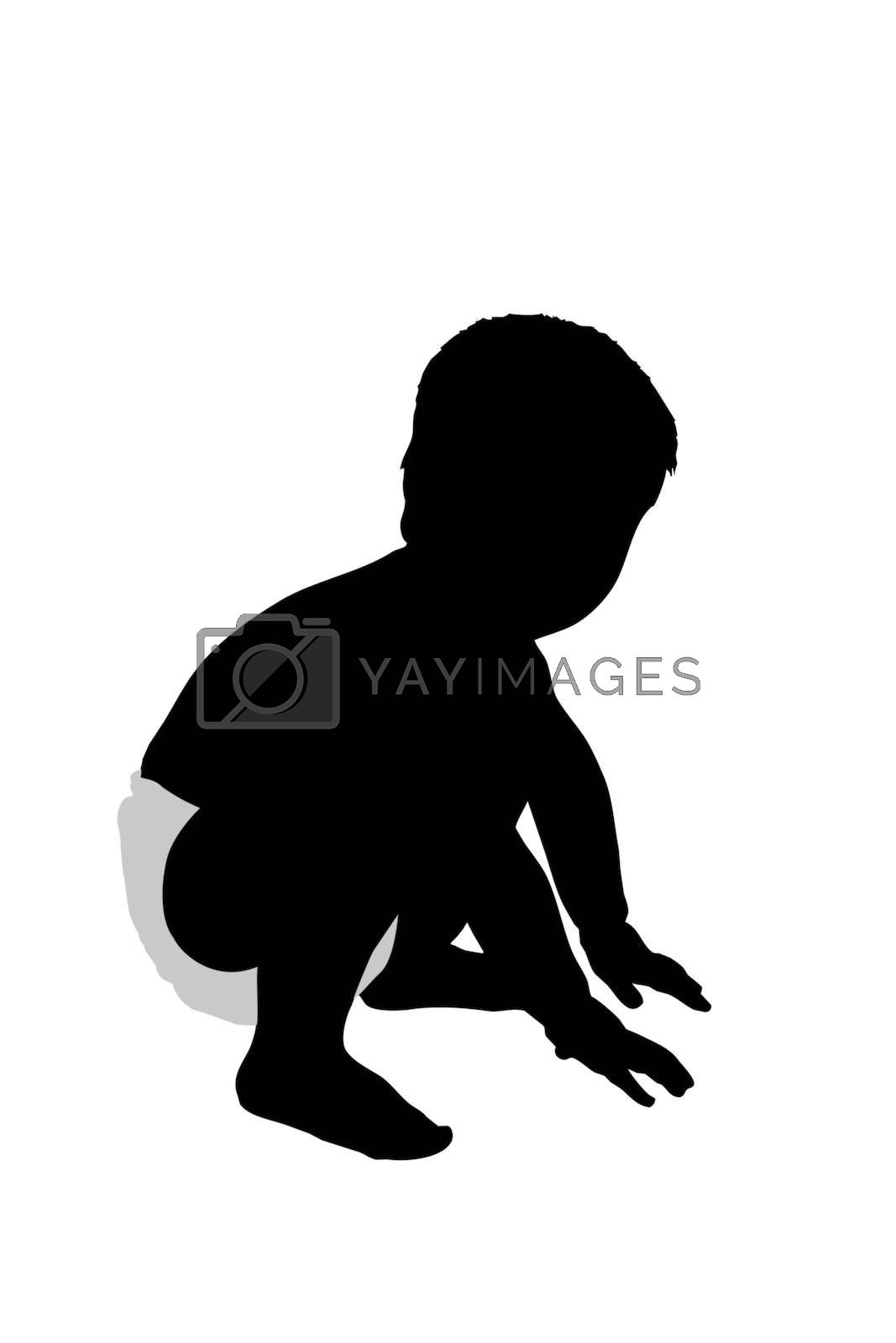Toddler Silhouette Illustration by travismanley