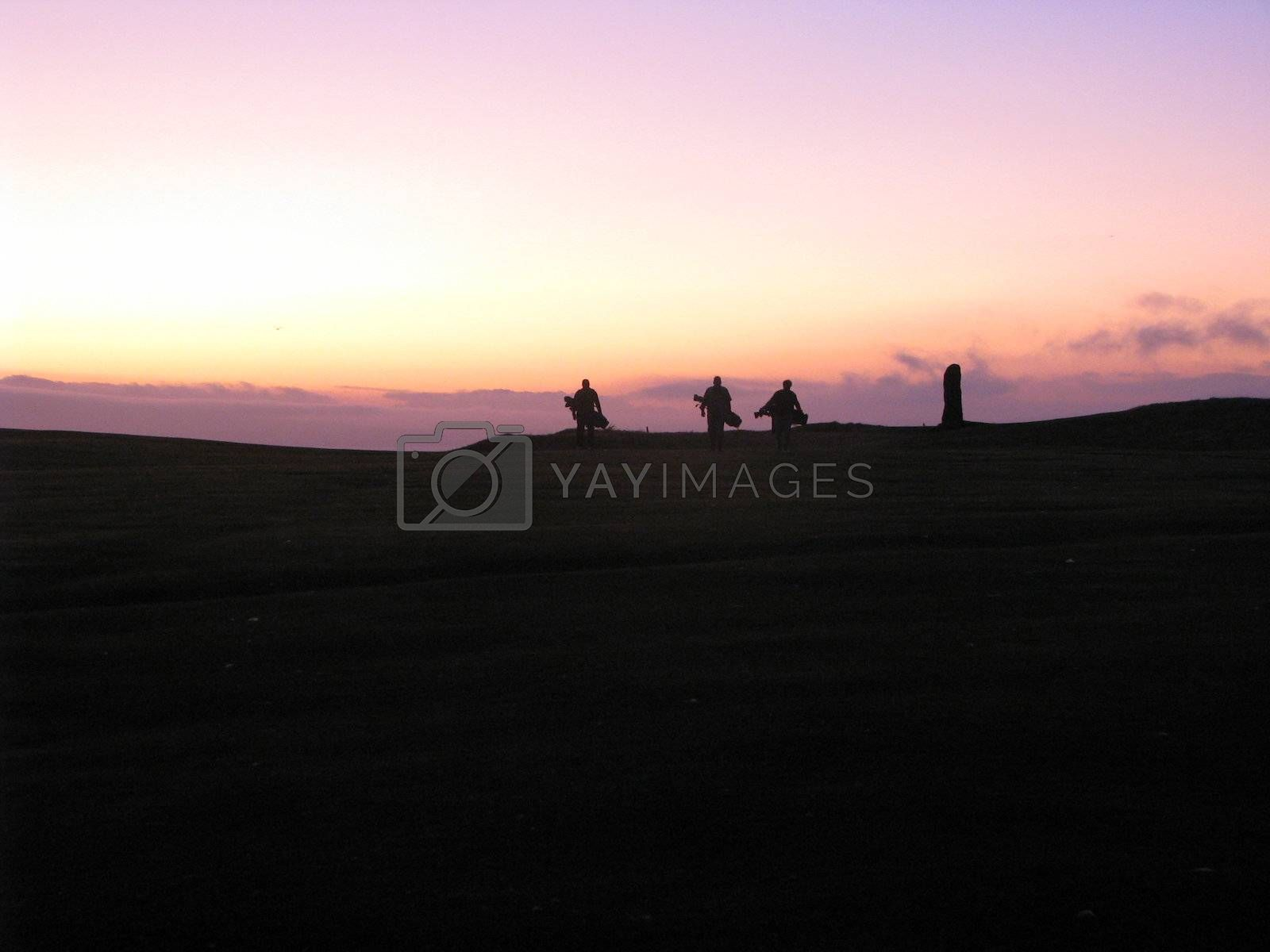 Royalty free image of Golfers Heading for the Clubhouse by ewilliamsdesign