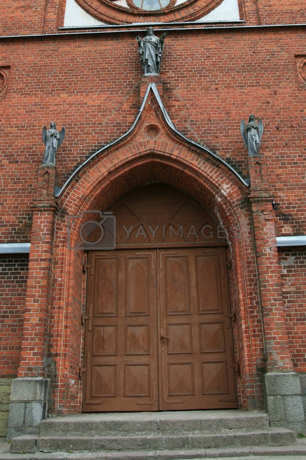 Early 19th century gothic style church door