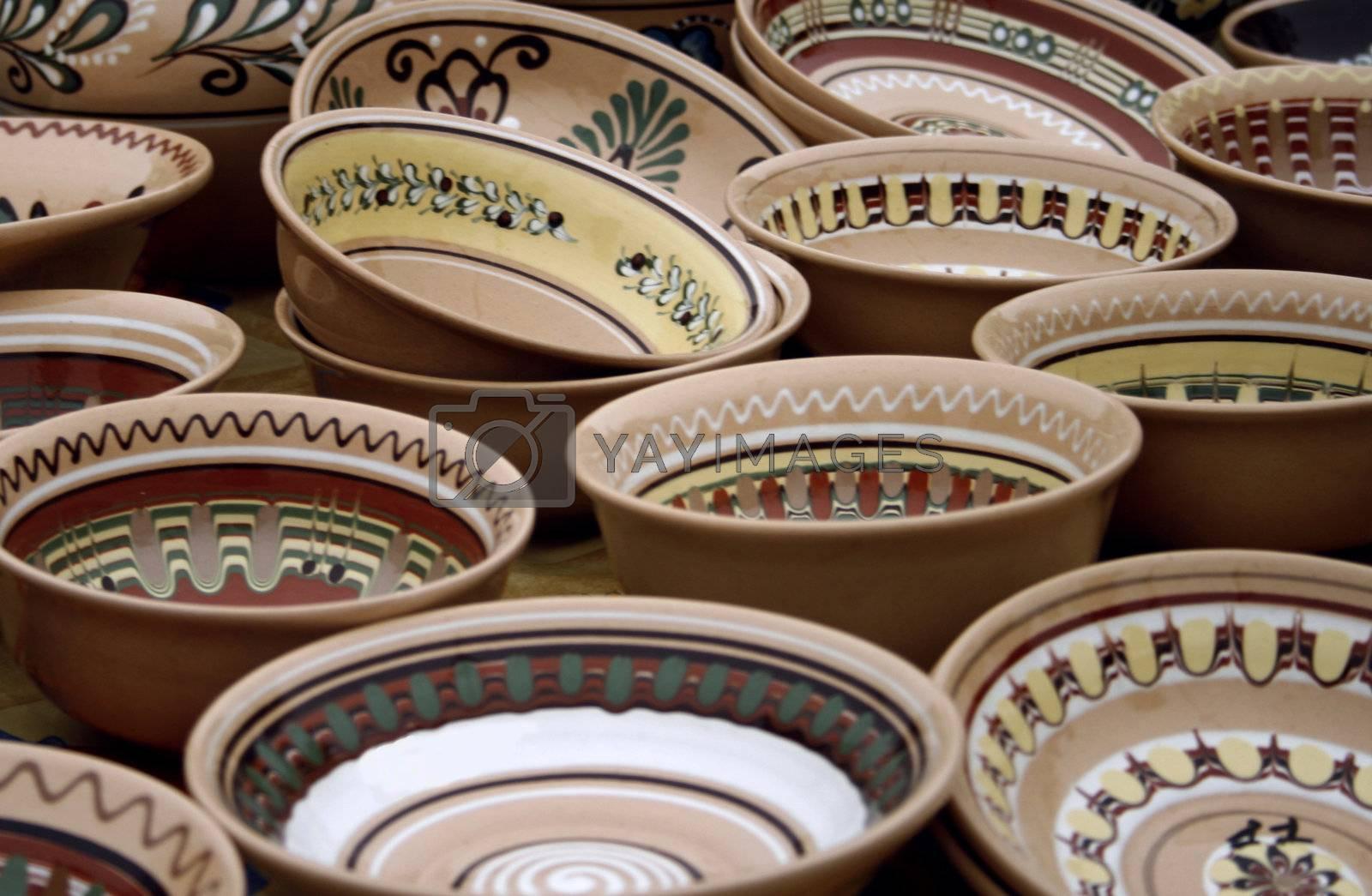 Traditional Ukrainian Pottery on the Market