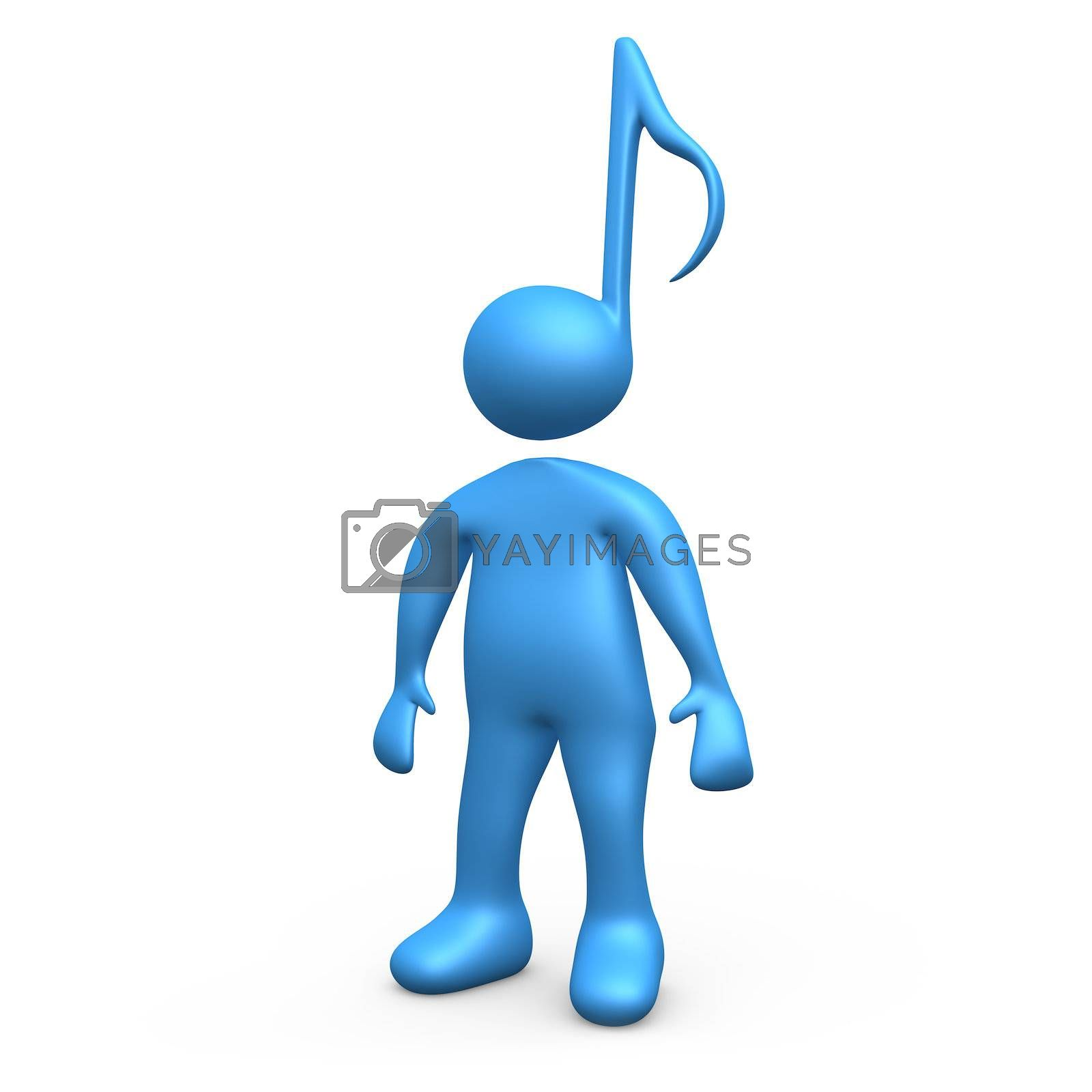 Computer generated image - Music Person .