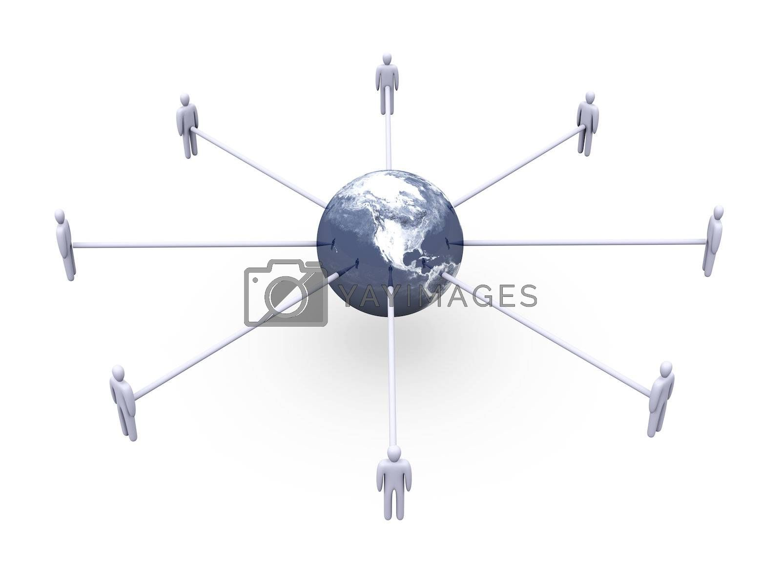 3D rendered Illustration. Isolated on white. Texture from NASA public domain Images / Visibleearth.