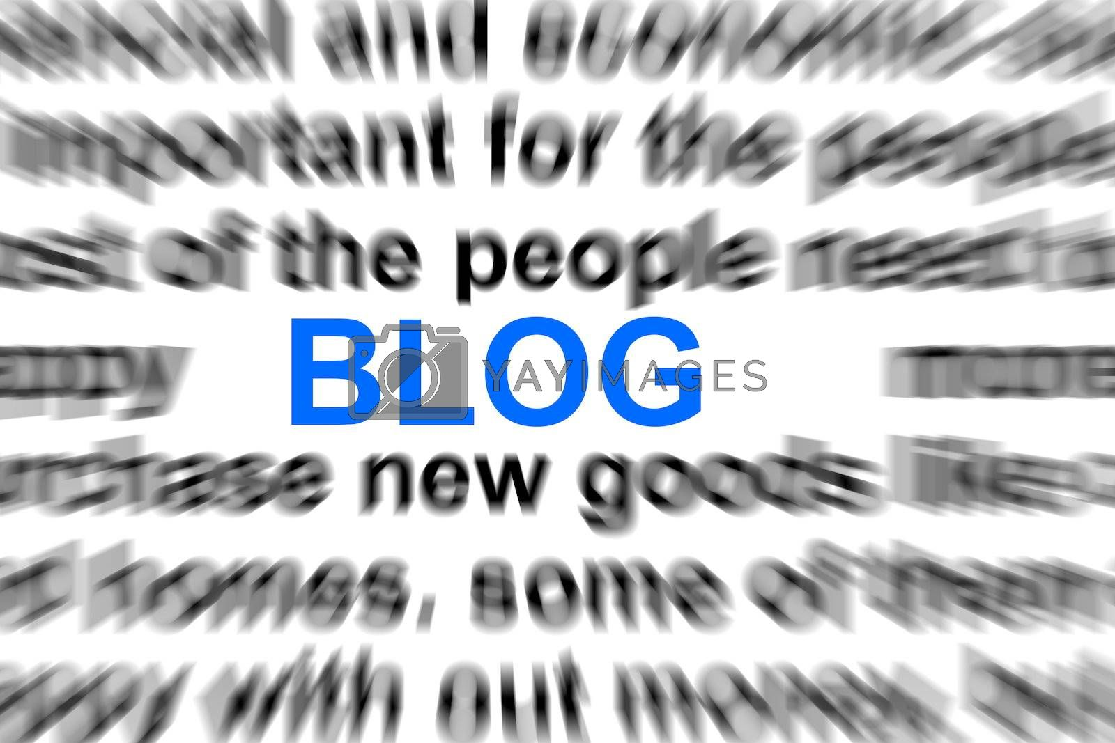 blog or internet concept with words in a dictionary