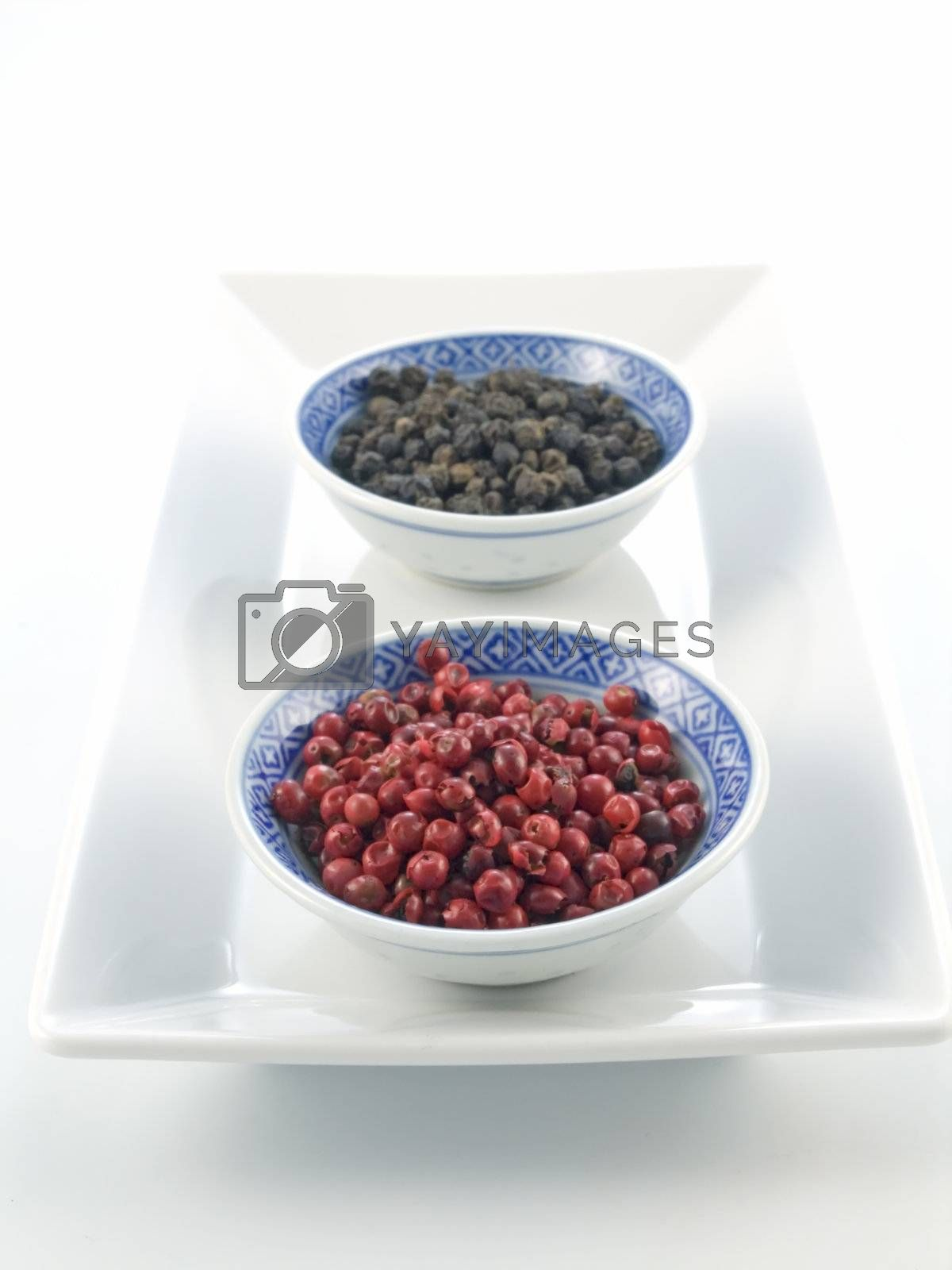 series spices: pepper isolated on white background