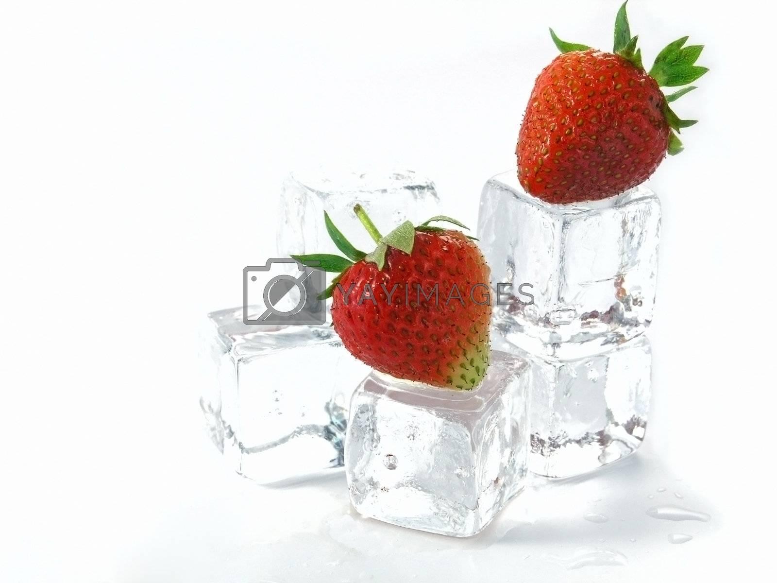 strawberries  by iwka