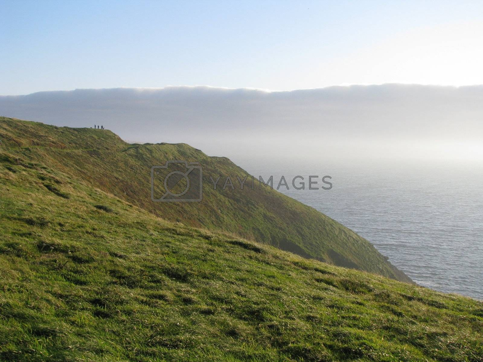 Royalty free image of Cliff on Ocean by ewilliamsdesign