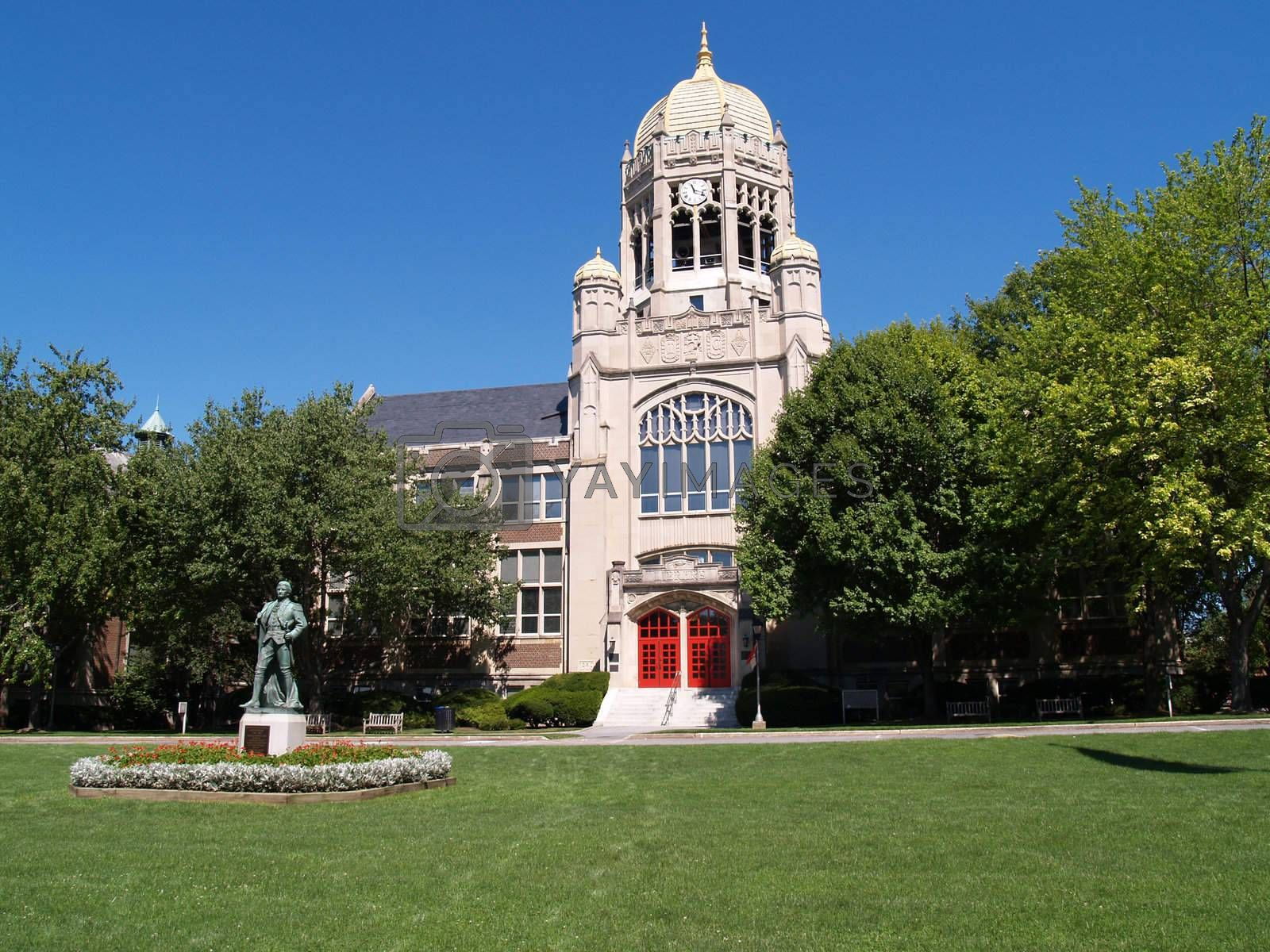 Royalty free image of Haas College Center, Muhlenberg College by cfarmer