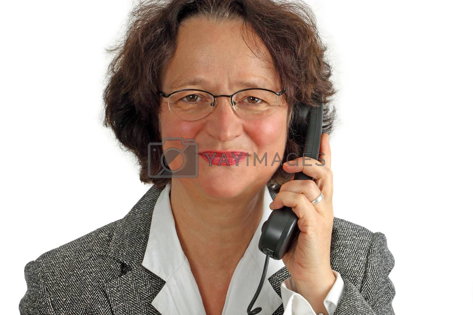 Business Woman Making A Phone Call