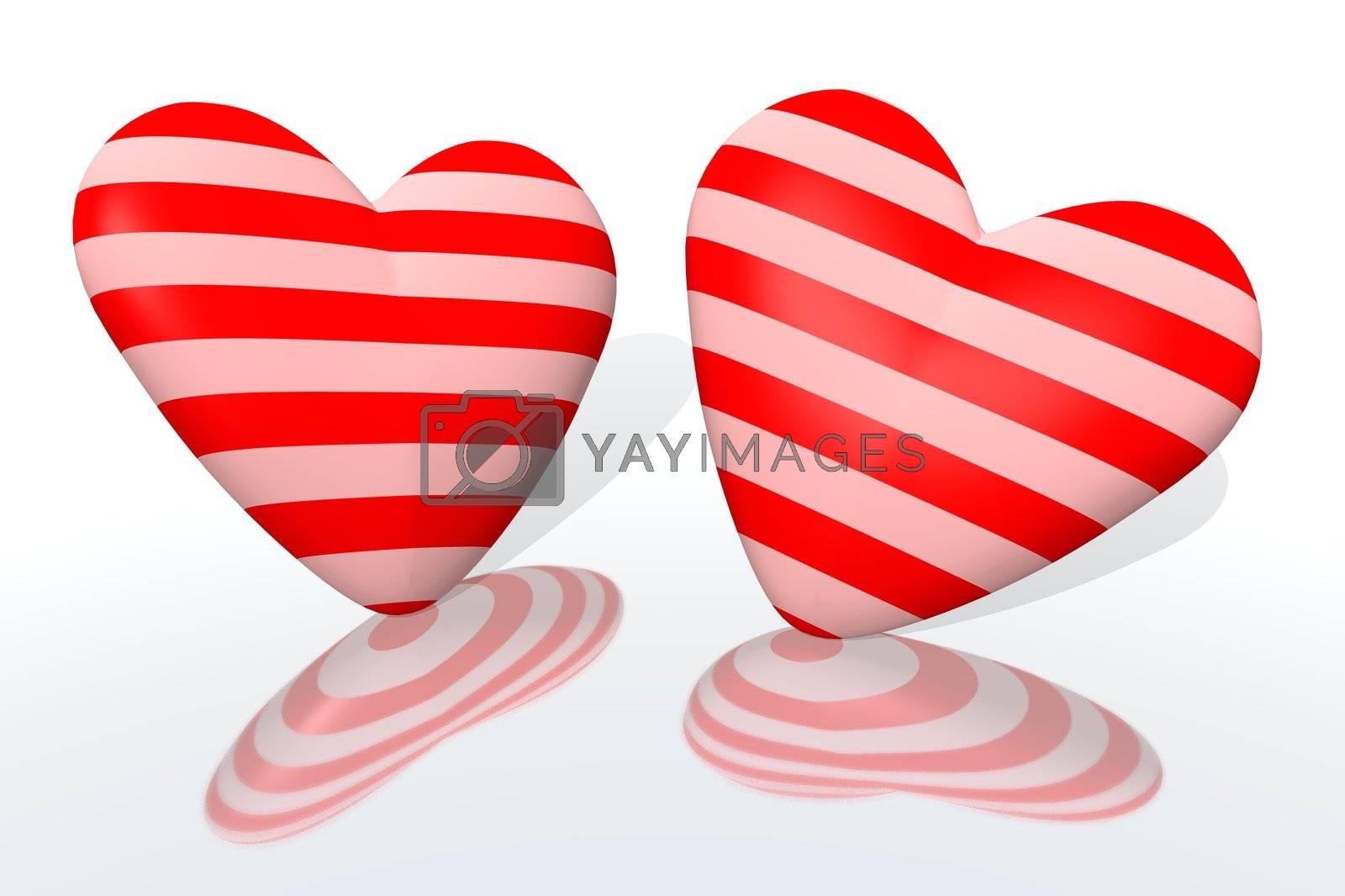 couple of hearts by jbouzou