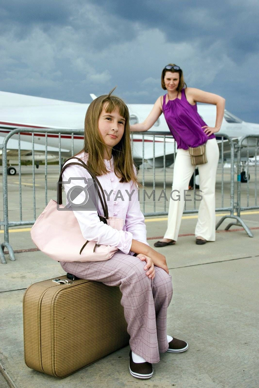 Daughter and mother expect announcement of the boarding.