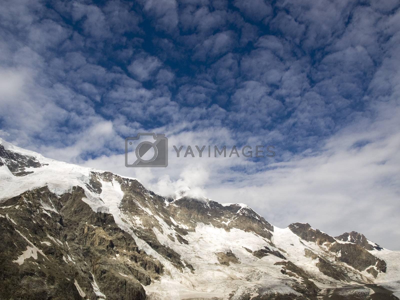 Mountains and sky. Caucasus. Kabardino-Balkariya. Bezengi