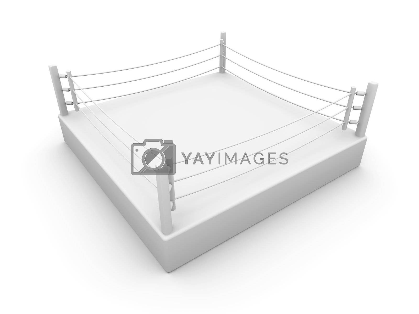 3D Illustration. Isolated on white.