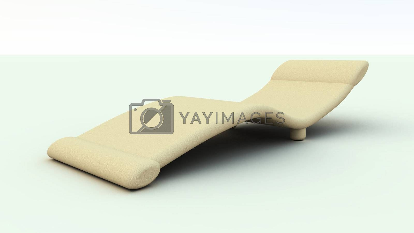 3D rendered Illustration of an roman design sofa. Leather material.