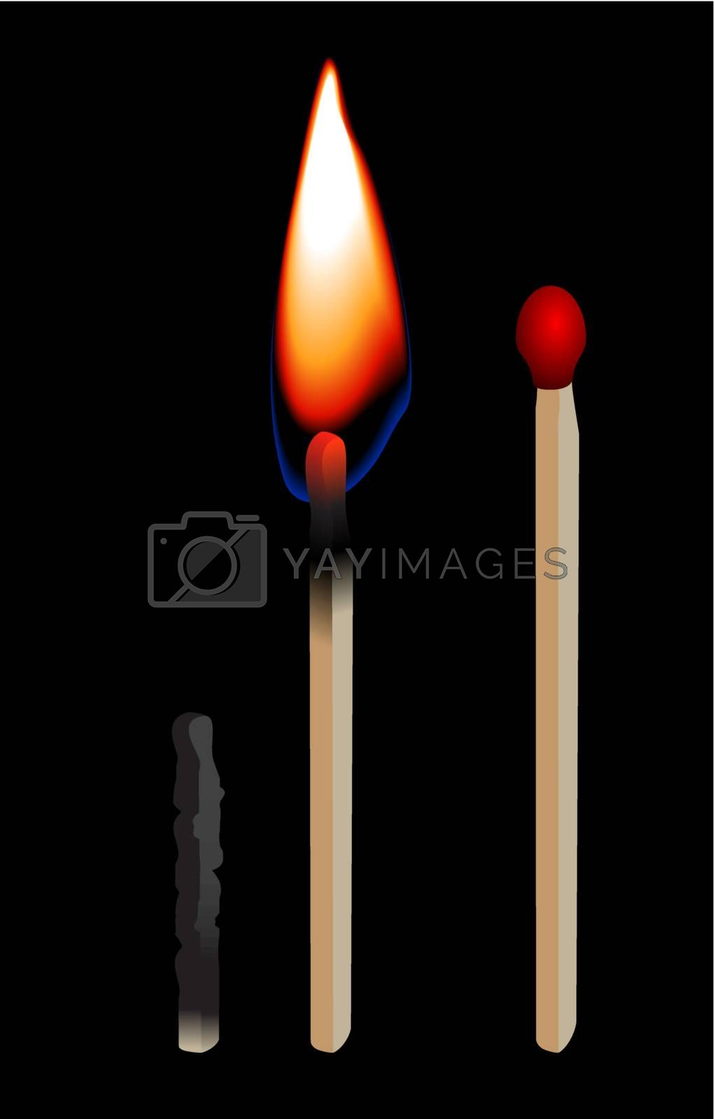 Burning matchstick by jfcalheiros