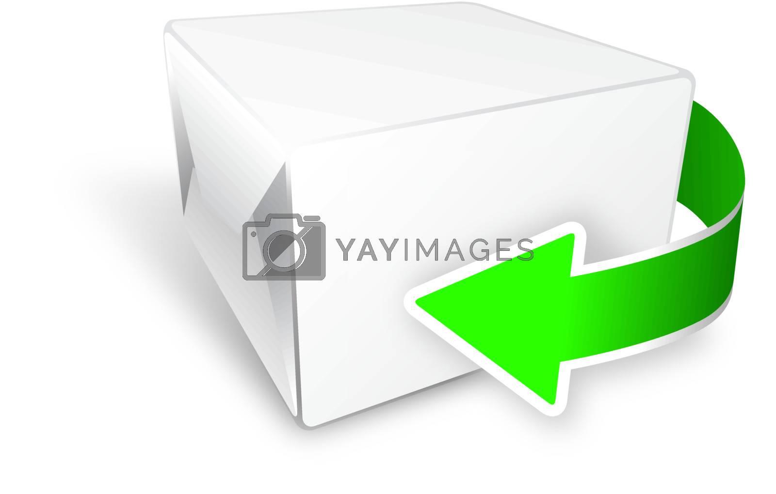 box with arrow by jfcalheiros